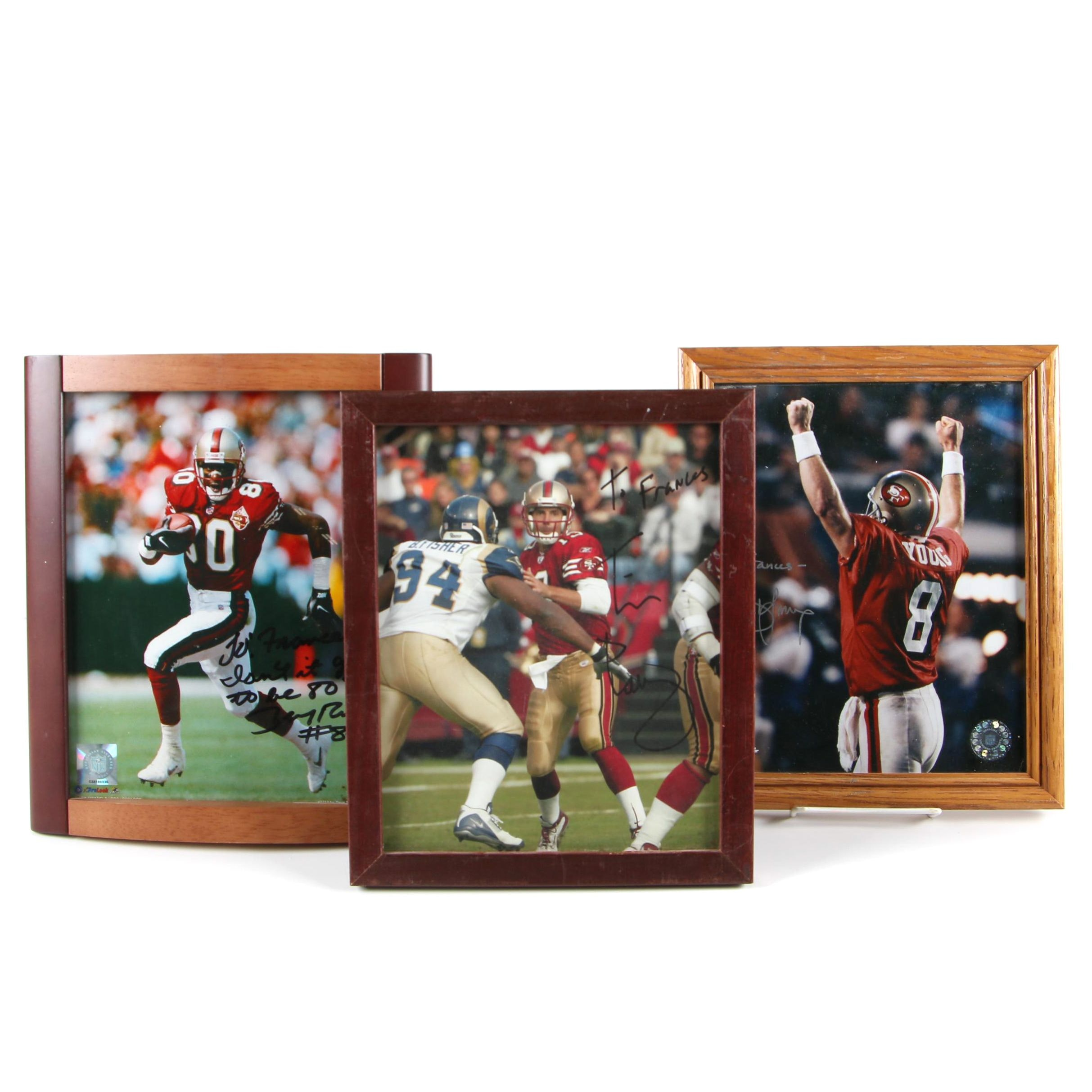 Autographed San Francisco 49ers Photos Including Jerry Rice