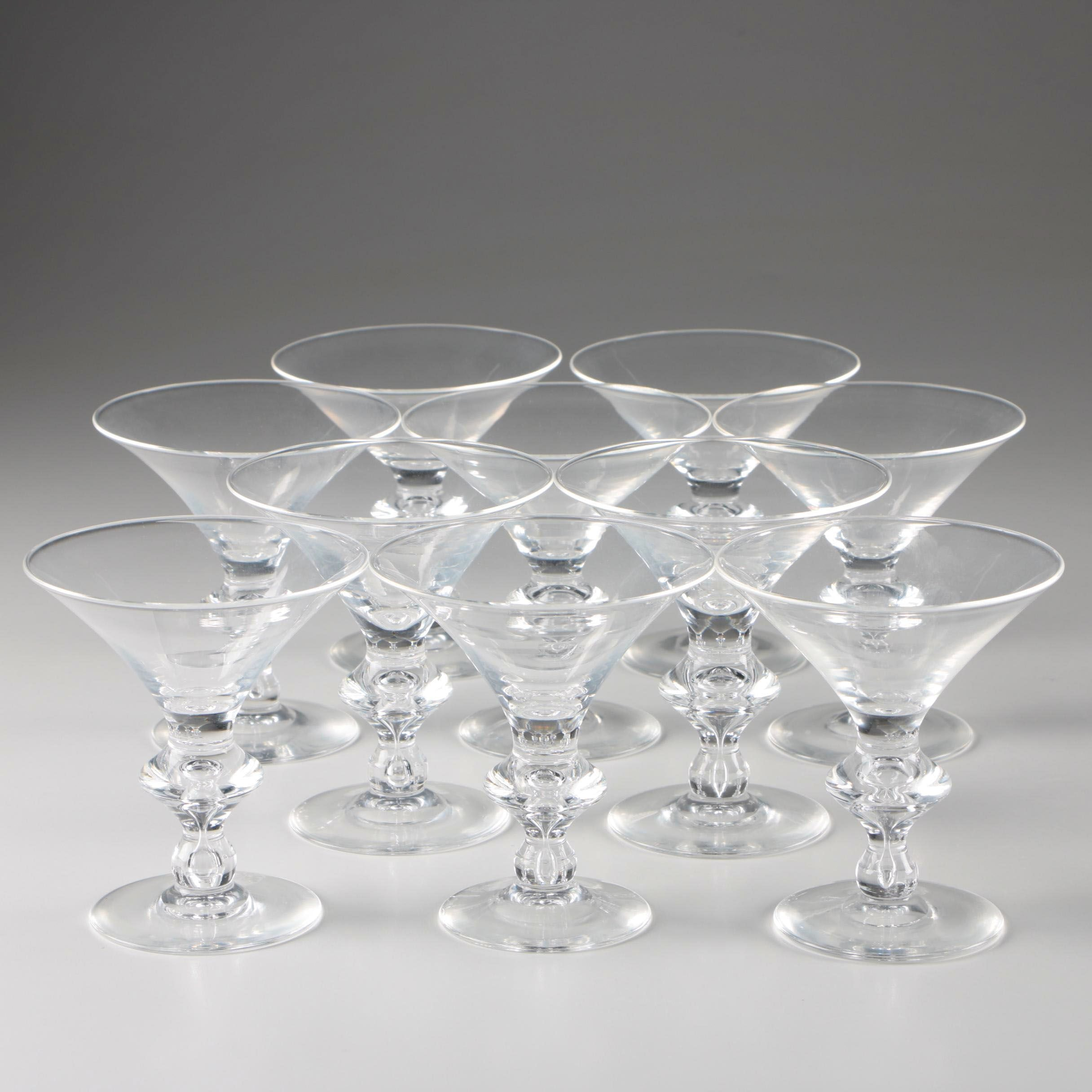 Steuben Art Glass Champagne Coupes, Mid-Century