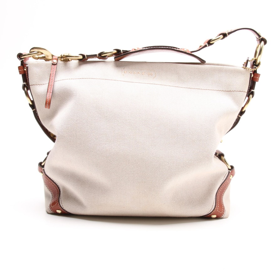 f6d23b51ad0 Coach Carly Canvas and Leather Hobo Bag   EBTH