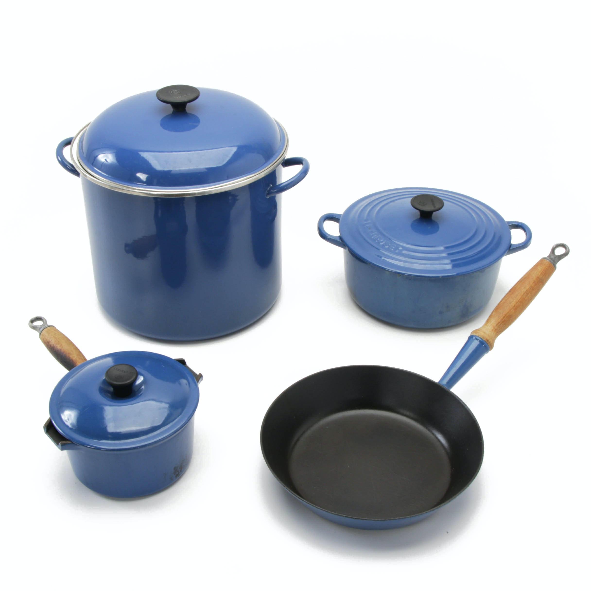 Le Creuset Blue Enameled Cast Iron Cookware