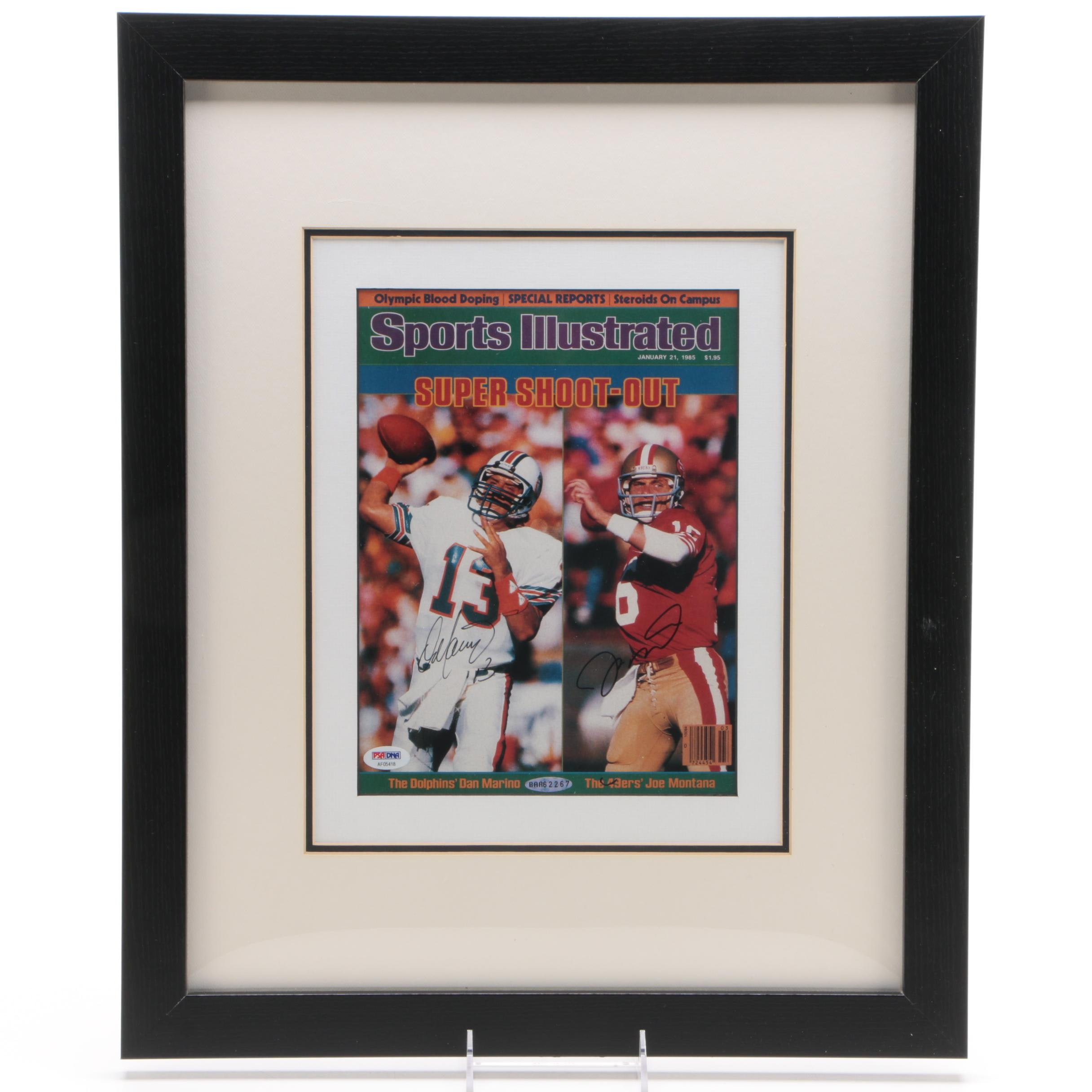 "Dan Marino and Joe Montana Autographed ""Sports Illustrated"" Cover - PSA/DNA LOA"
