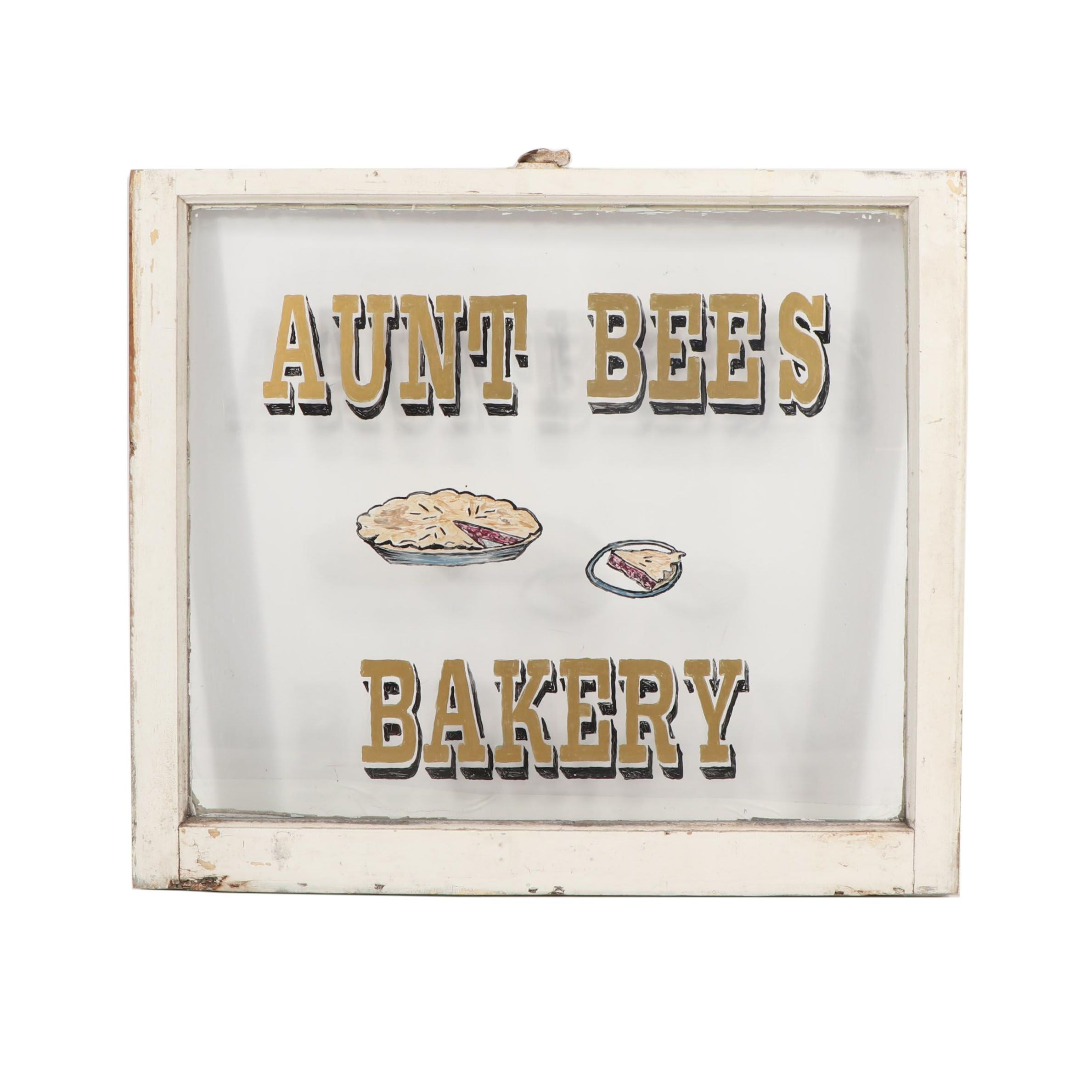 Aunt Bee's Bakery Window Sign