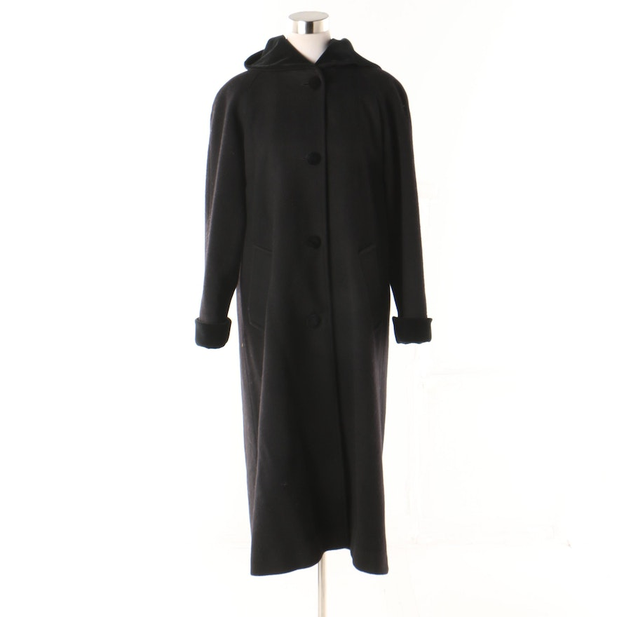 c15a734bd5a Women s Forecaster of Boston Black Wool Hooded Coat   EBTH