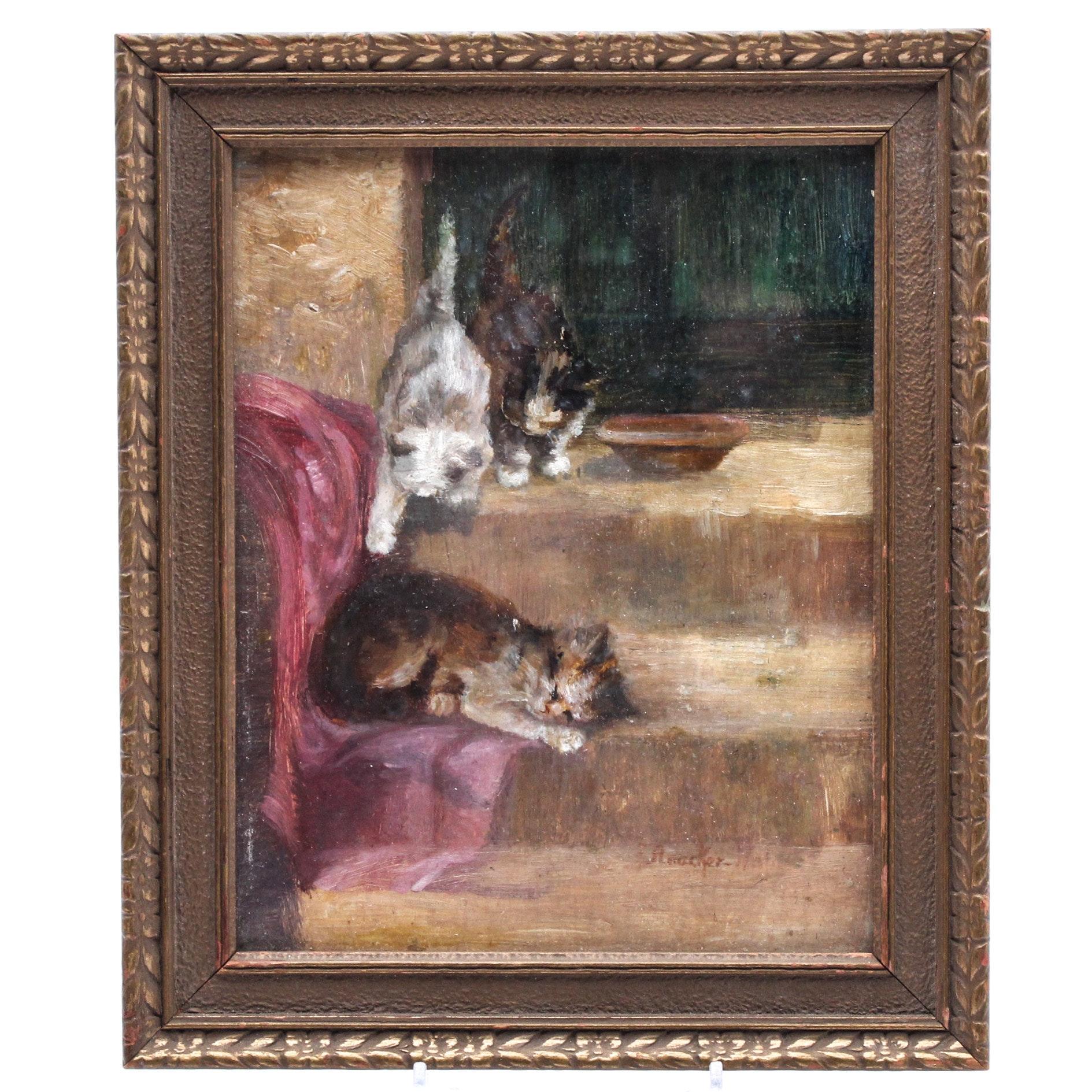 Oil Painting of Kittens