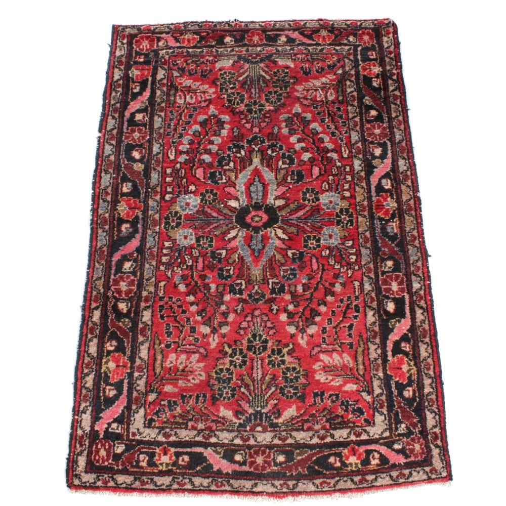 Anitique Hand-Knotted Persian Daragazine Rug, circa 1920