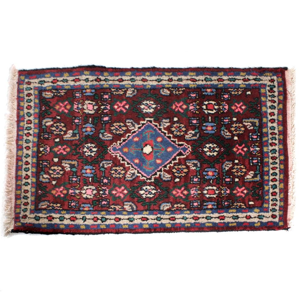 Hand-Knotted Persian Zanjan Rug, circa 1970