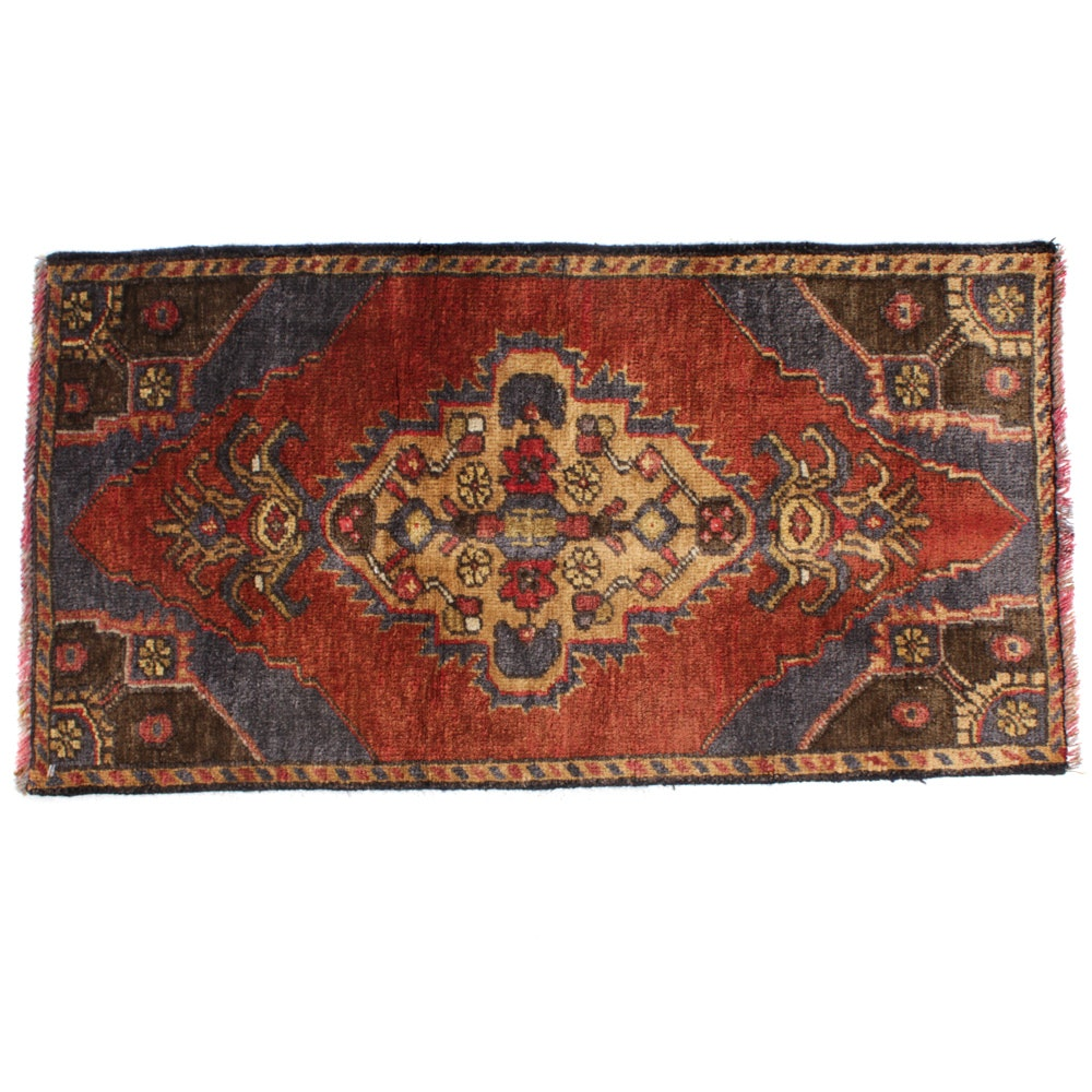 Hand-Knotted Turkish Village Rug, circa 1960