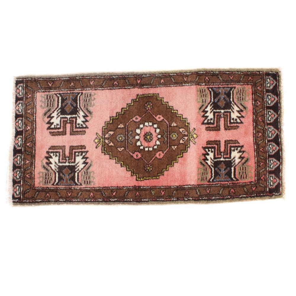 Semi-Antique Hand-Knotted Turkish Village Rug, circa 1950