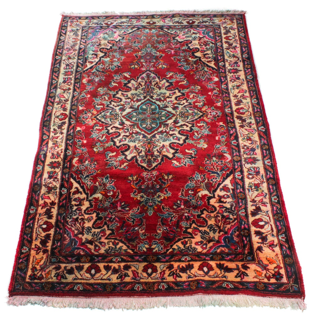Semi-Antique Hand-Knotted Persian Mahal Rug, circa 1960