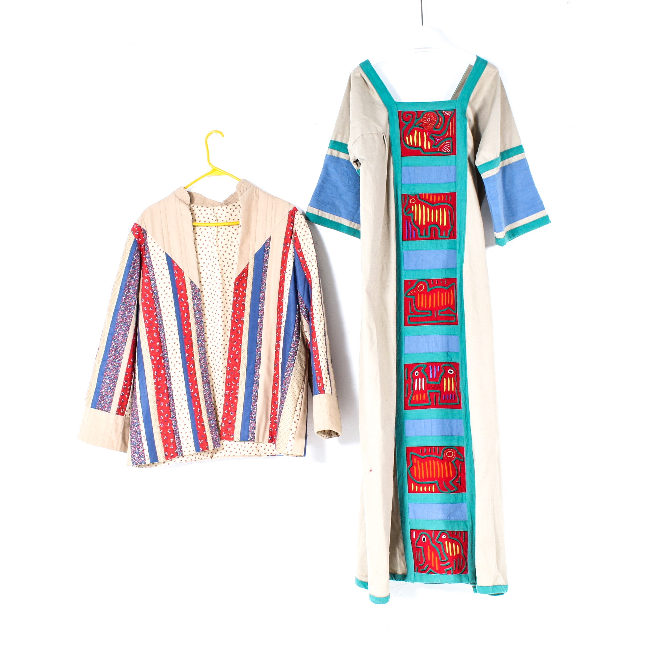 Handcrafted Panamanian Mola Textile Dress and Jacket