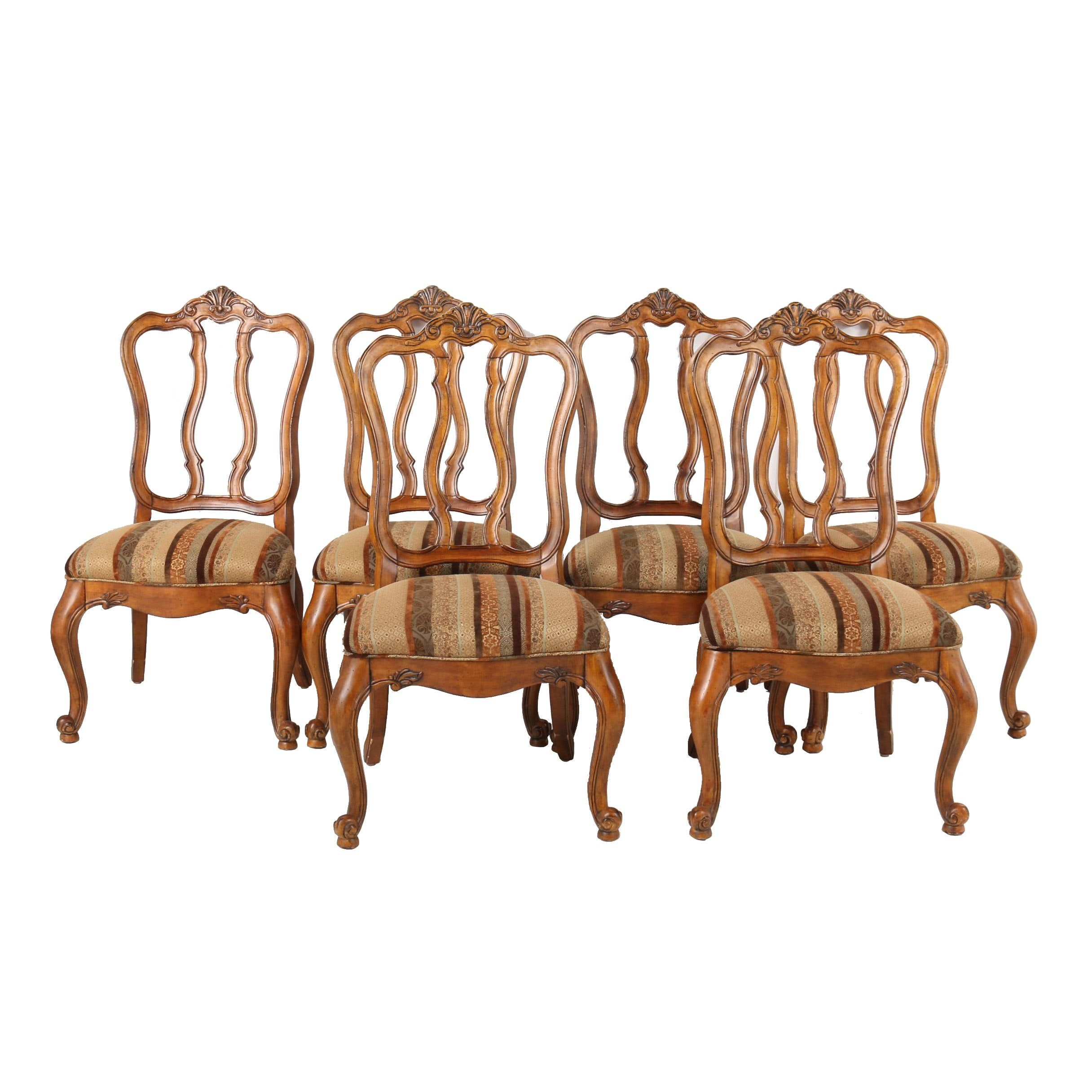 """Tuscany Augustine"" Upholstered Side Chairs by Ethan Allen, 21st Century"