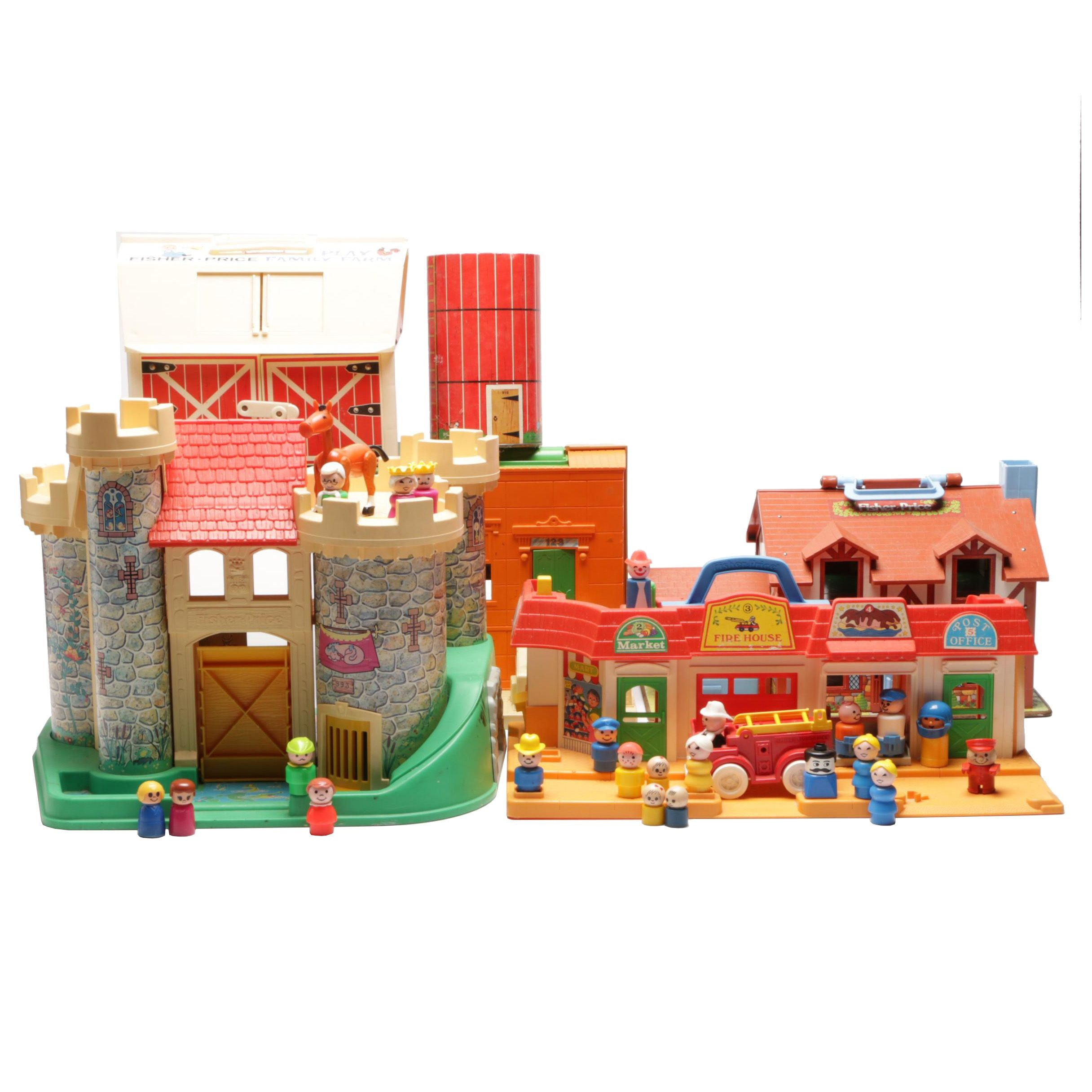 Fisher-Price Little People Play Houses & Sesame Street House by Child Guidance