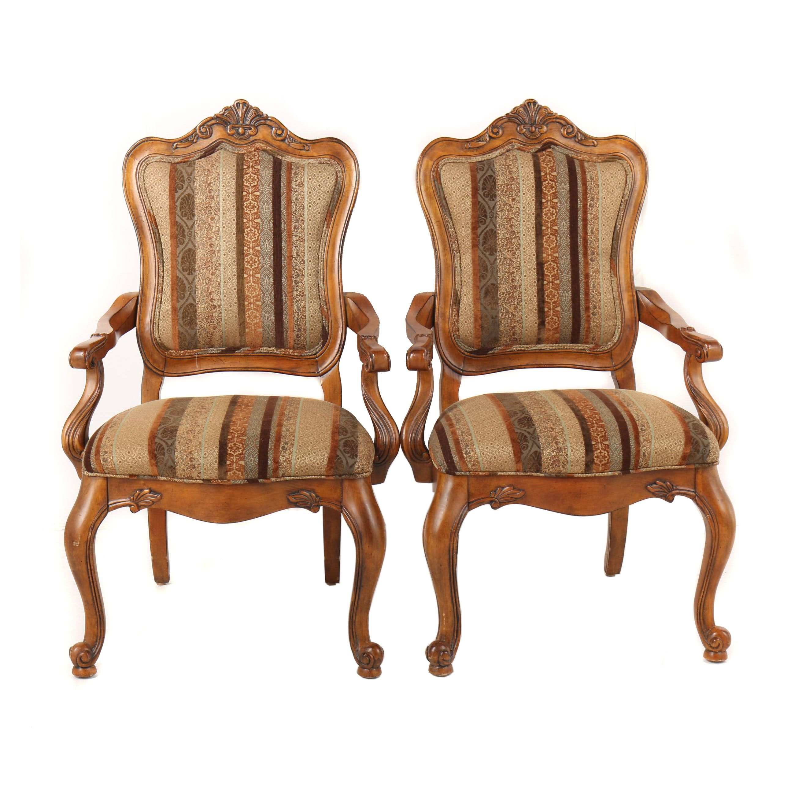 """""""Tuscany Augustine"""" Upholstered Armchairs by Ethan Allen, 21st Century"""