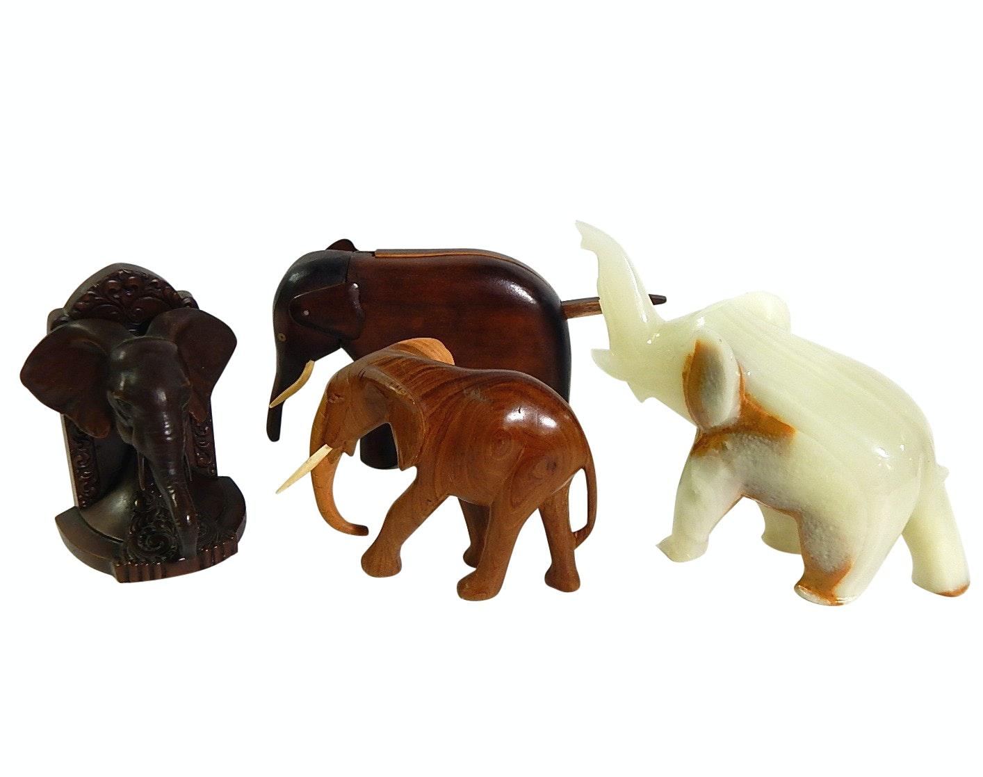 Elephant Figurine Collection