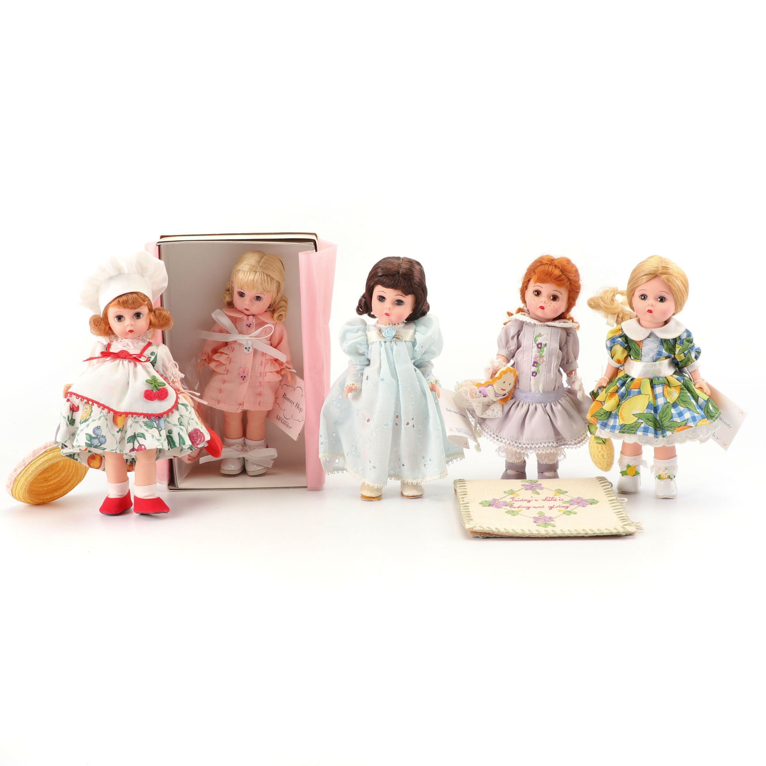 "Madame Alexander Dolls Including ""Friday's Child"" and ""Bunny Hop"""