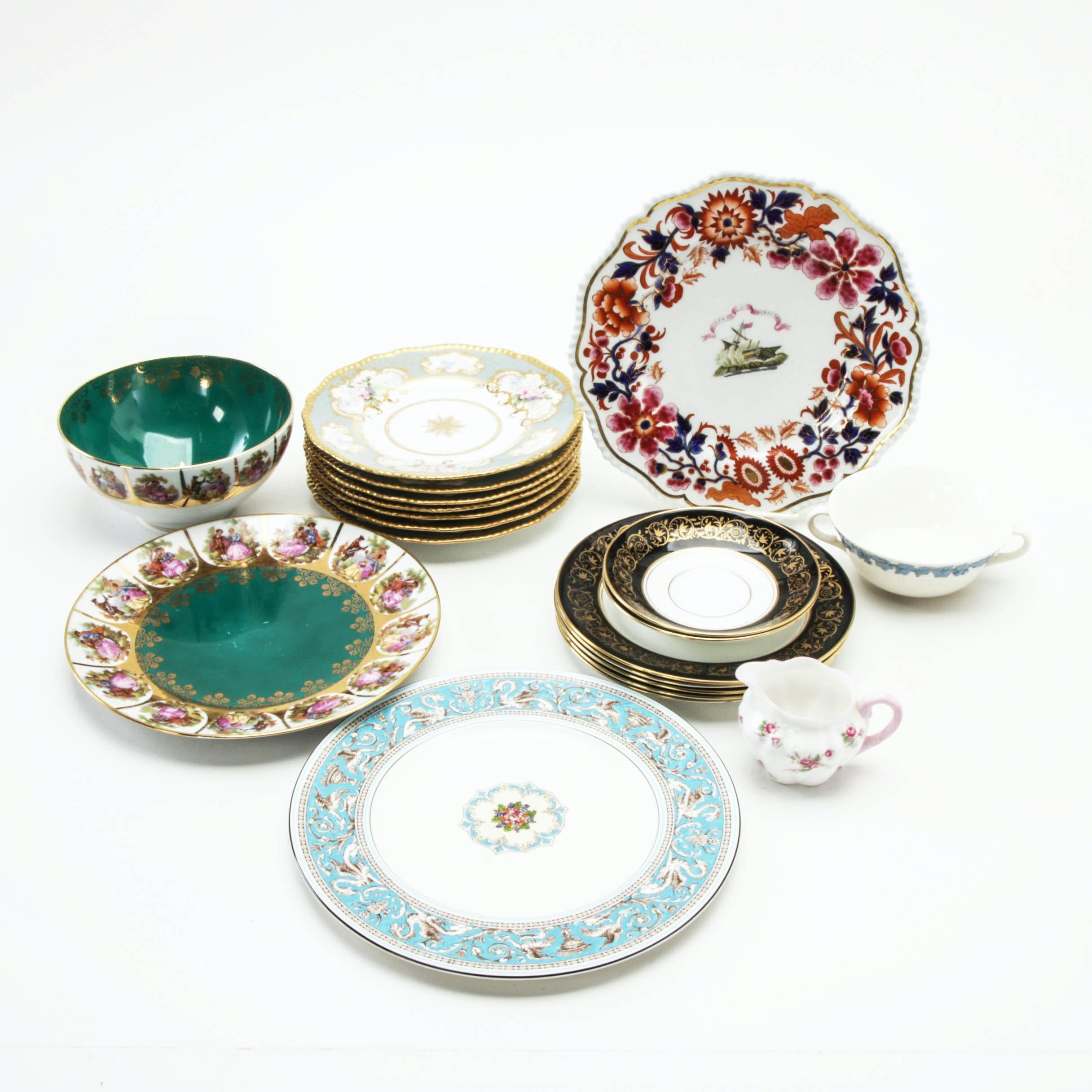 "Bone China and Porcelain Dinnerware featuring Wedgwood ""Florentine"""