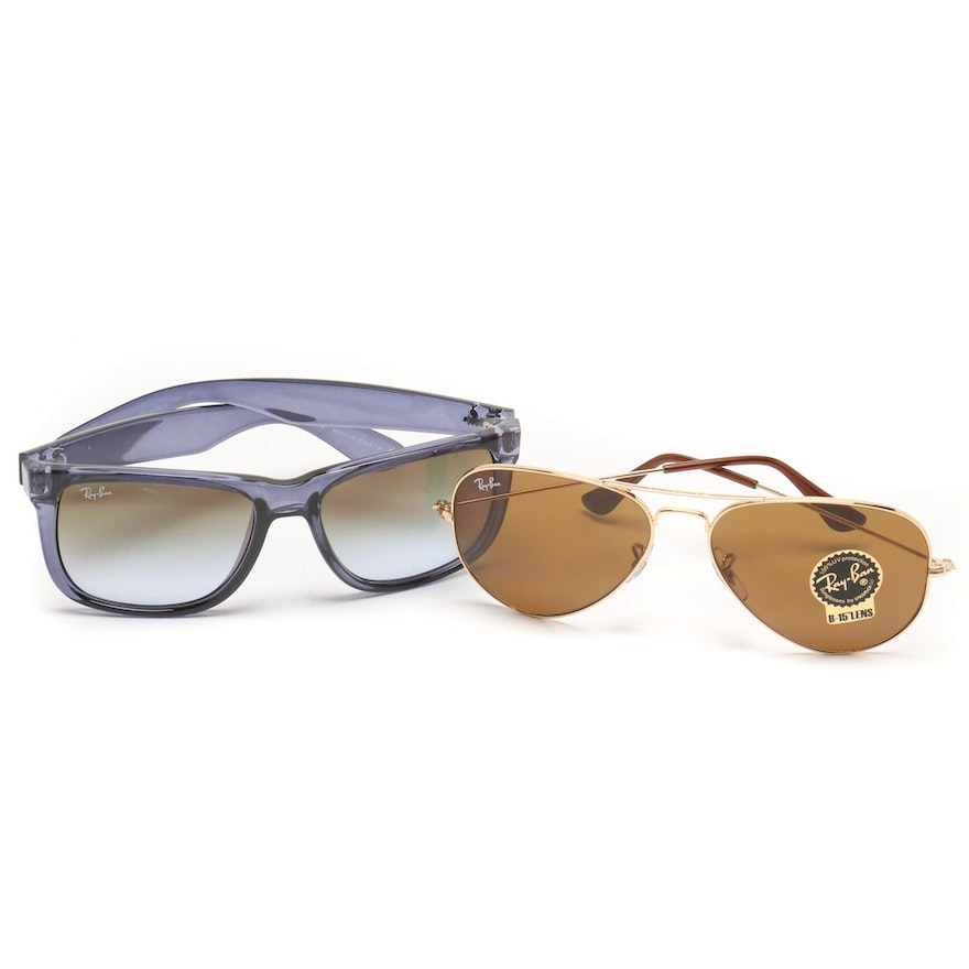 2034427d169 Ray-Ban Aviator and Justin Sunglasses   EBTH
