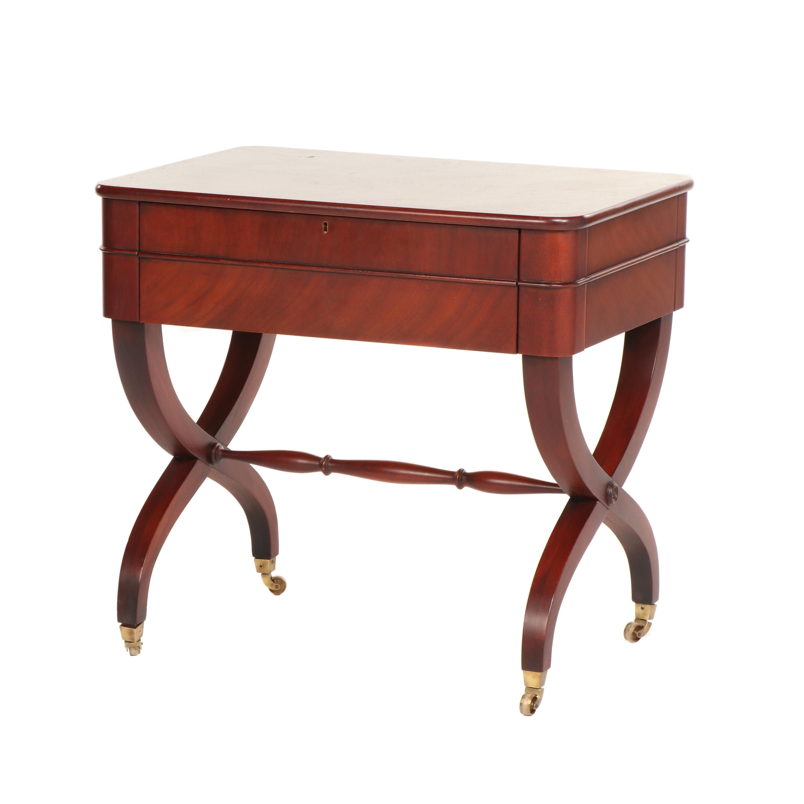"Ralph Lauren ""Barlow"" Mahogany Side Table, 21st Century"