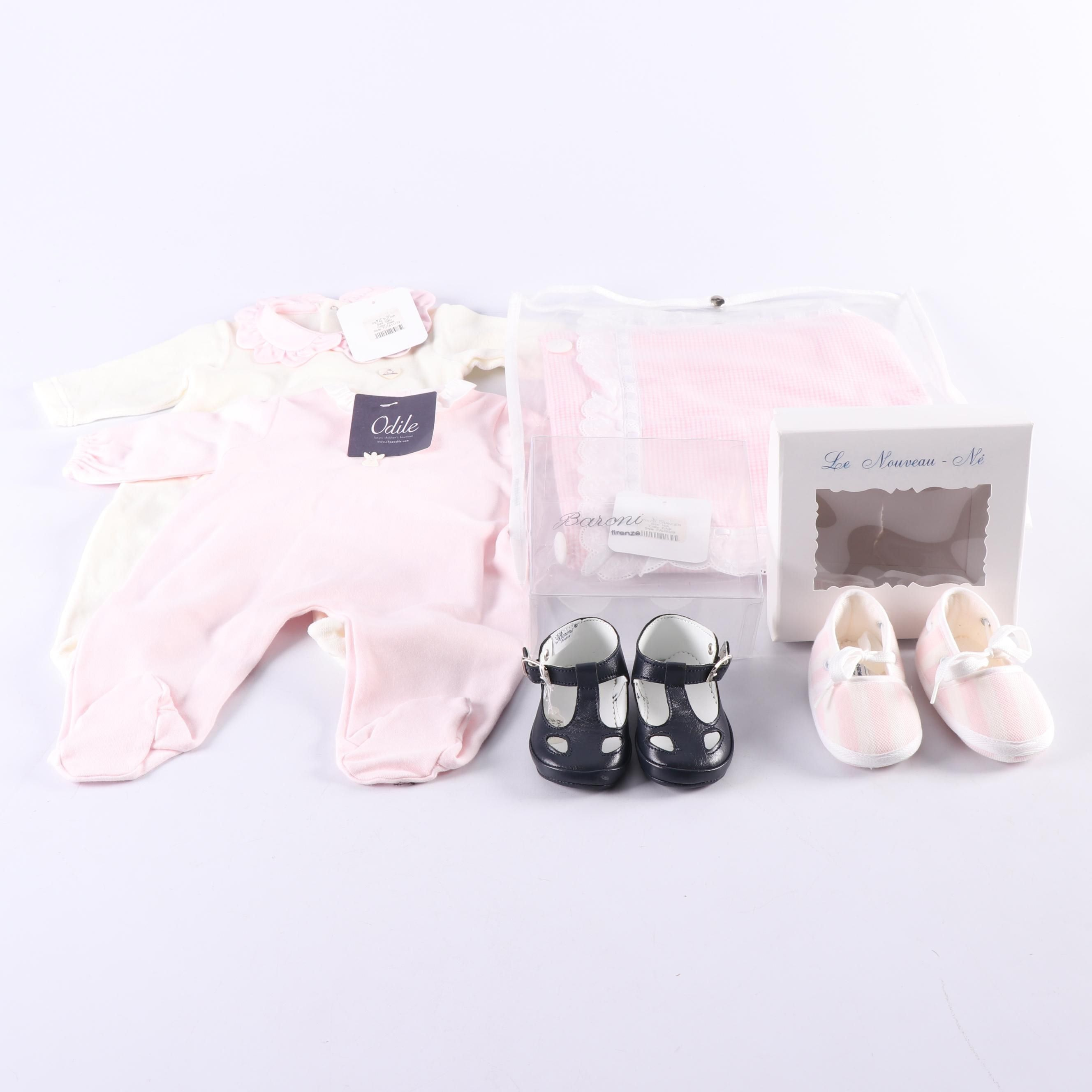 Infants' Sleepwear, Travel Changer Pad and Shoes Including Odile La Stupenderia