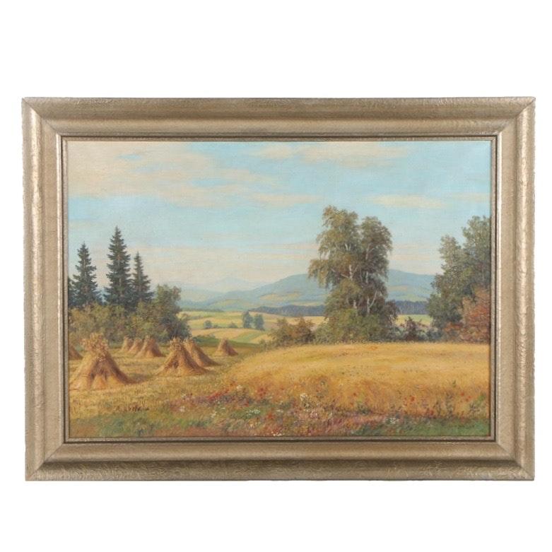 M. Henschke Oil Painting