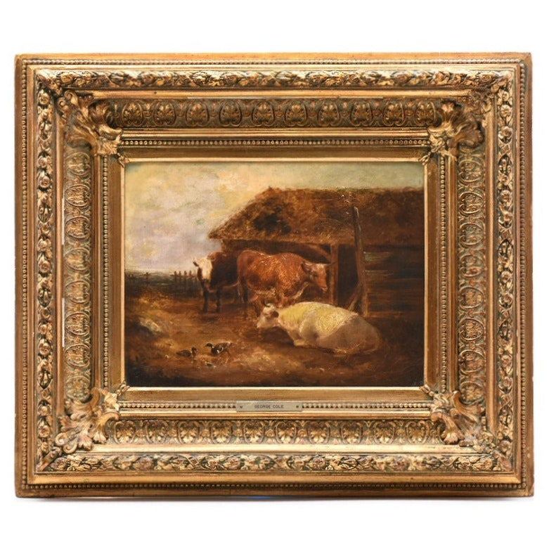 George Cole Late 19th Century Oil on Canvas