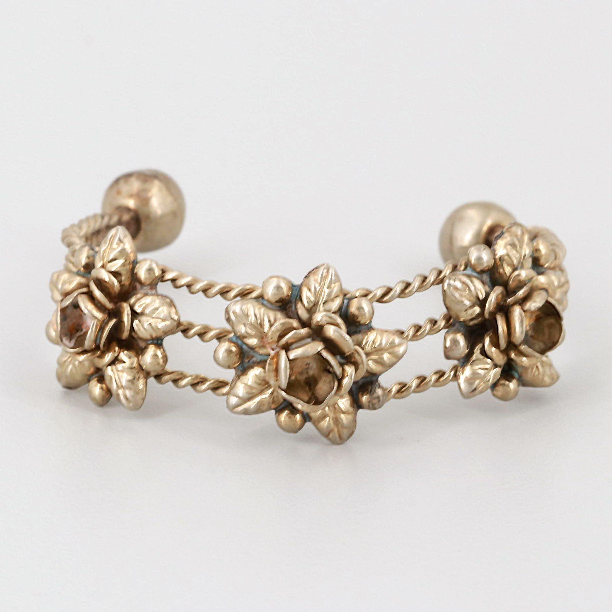 Gold Tone Child's Cuff Bracelet