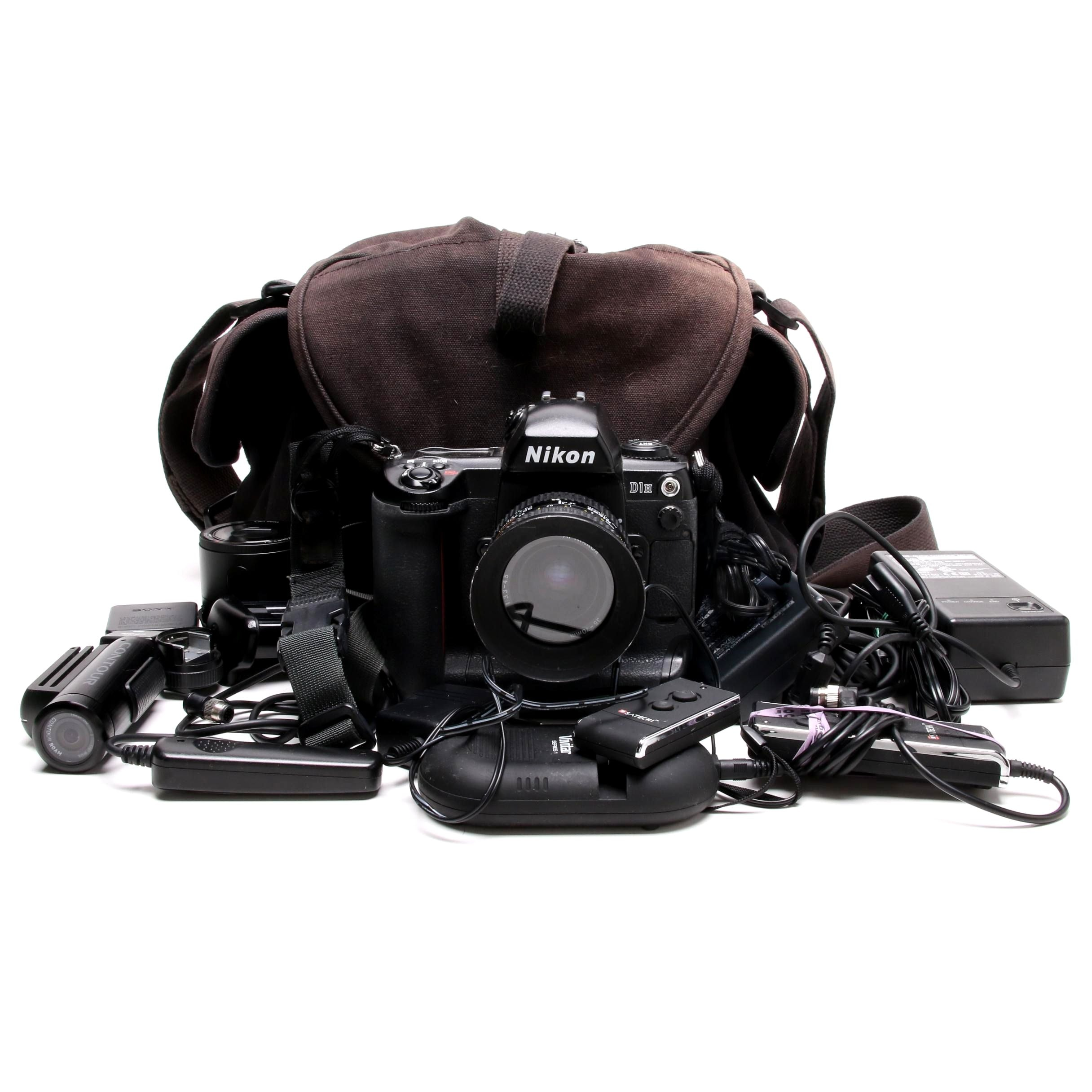 Nikon D1H DSLR Camera With Accessories
