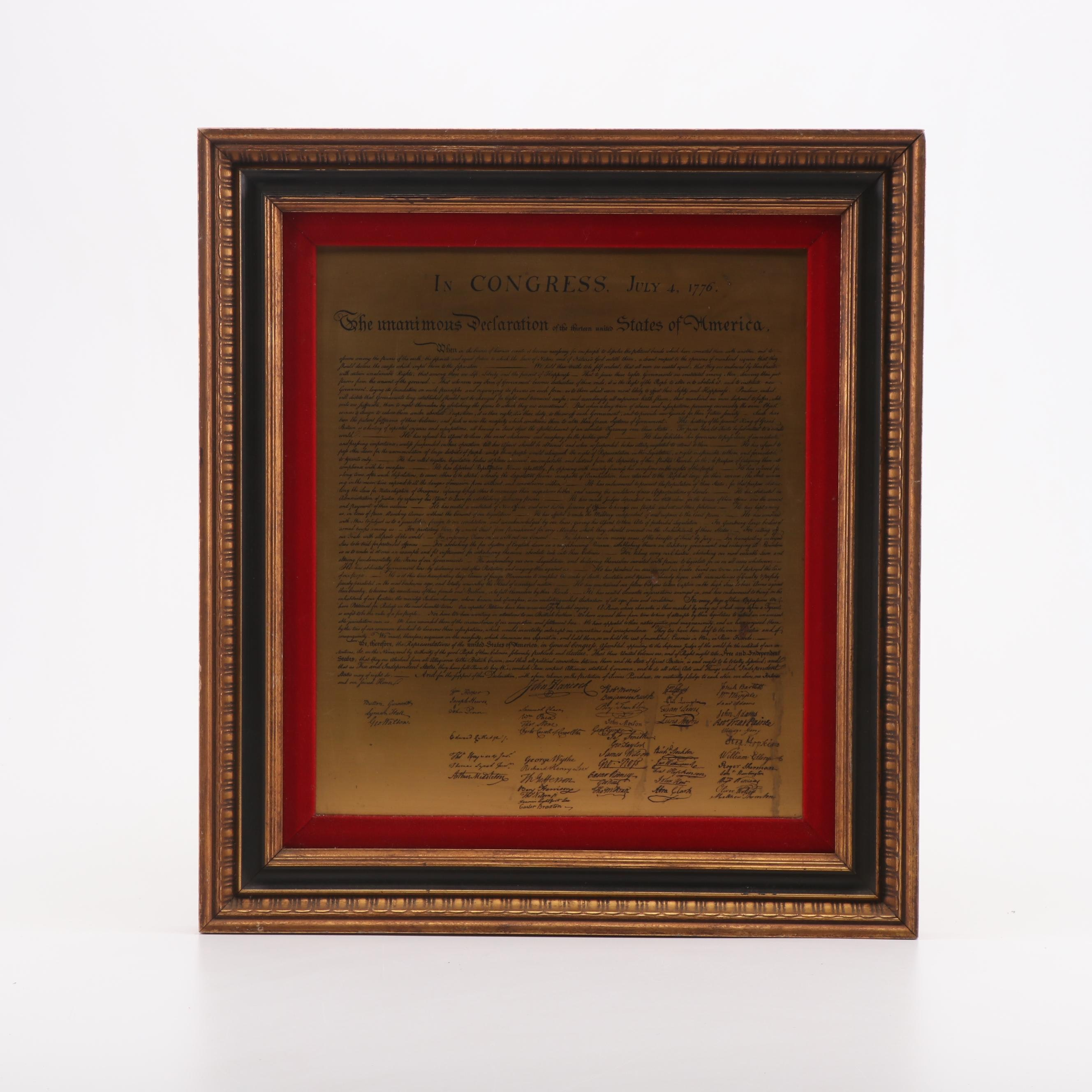 Etched Copper Preamble to the Constitution