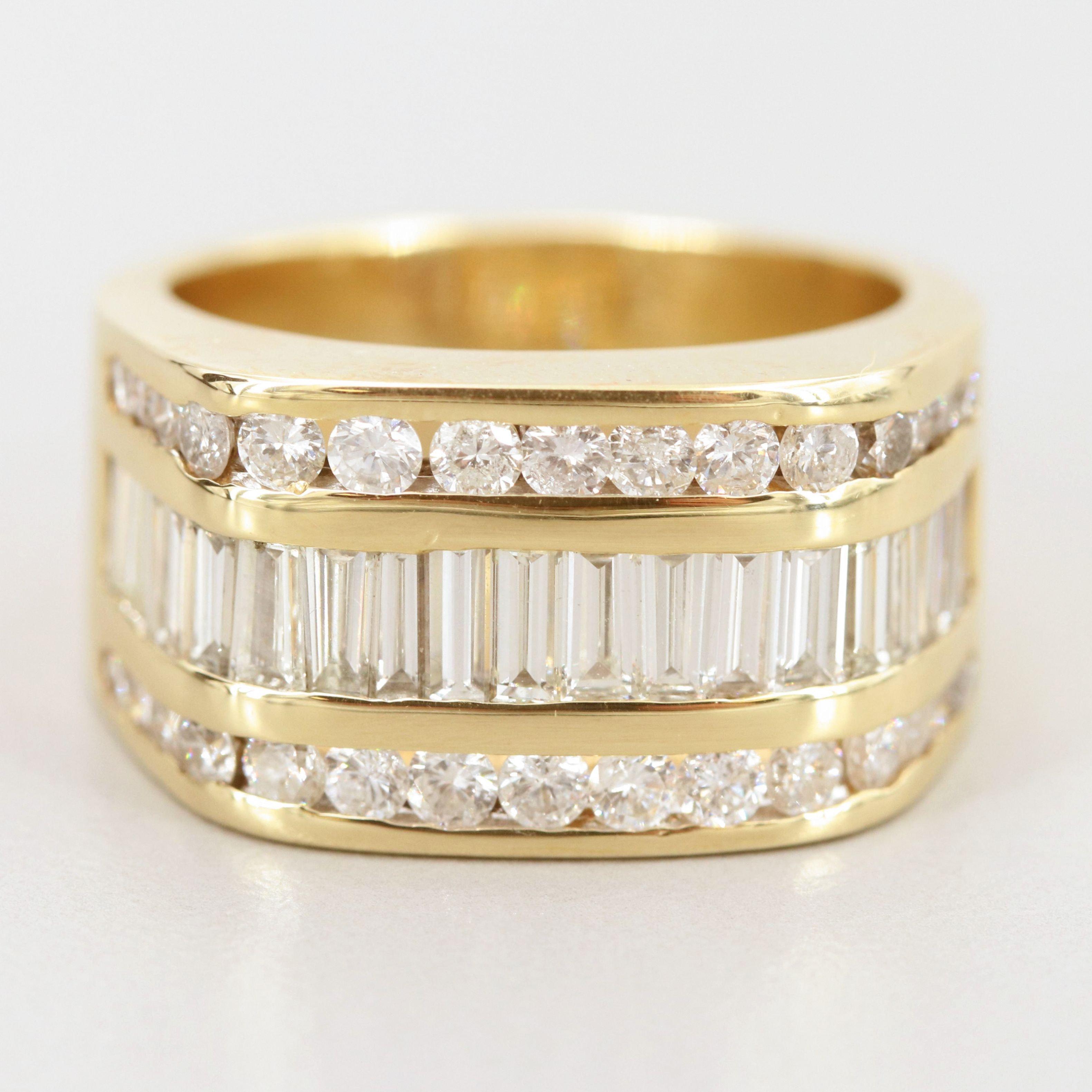 14K Yellow Gold 2.73 CTW Diamond Ring
