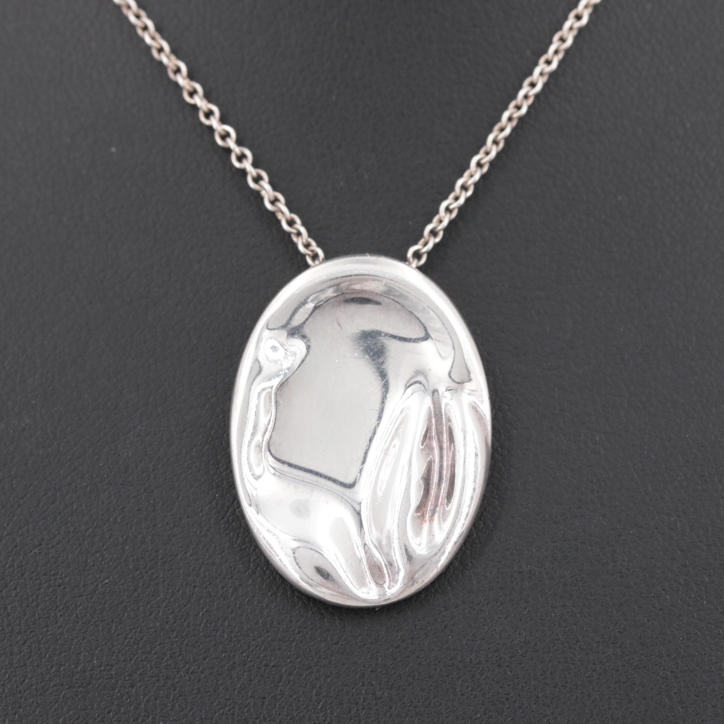 Elsa Peretti for Tiffany & Co. 1000 Silver Zodiac Pendant on Sterling Chain