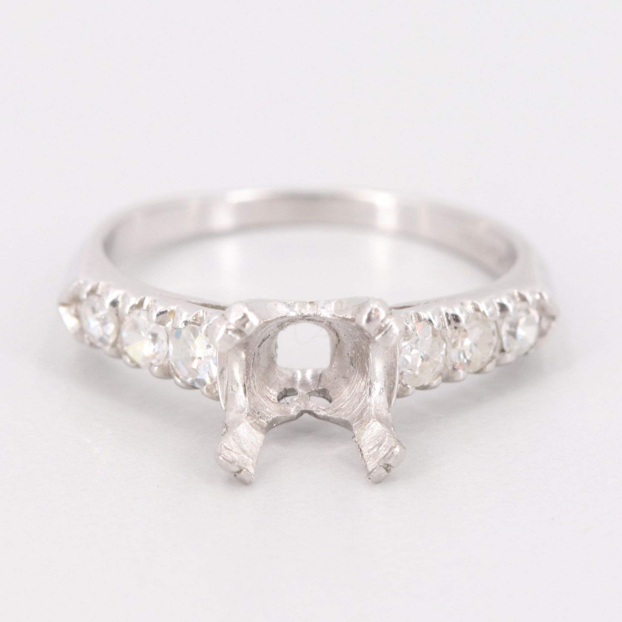 Platinum Semi-Mount Diamond Ring