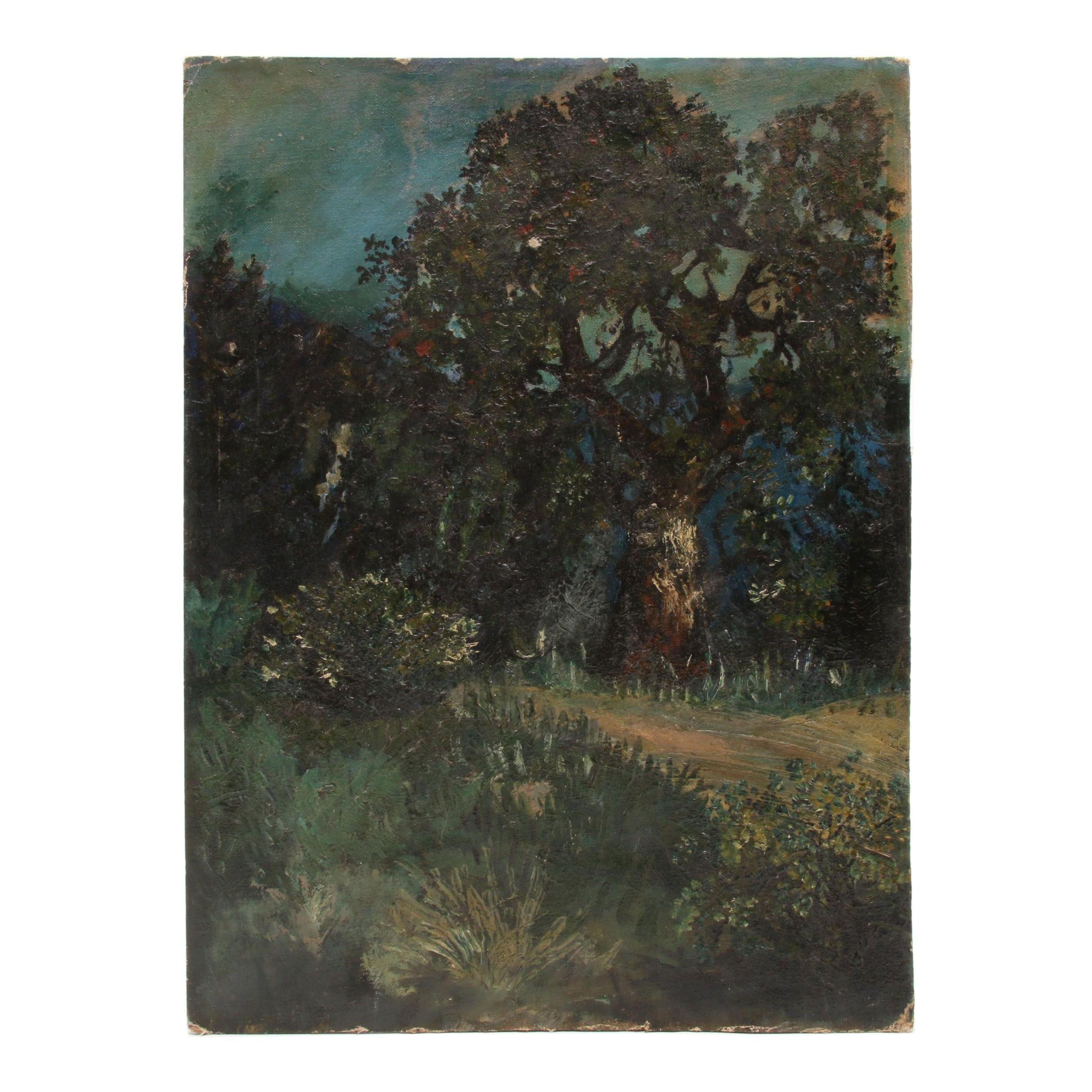 Mid-Century Oil Landscape Painting