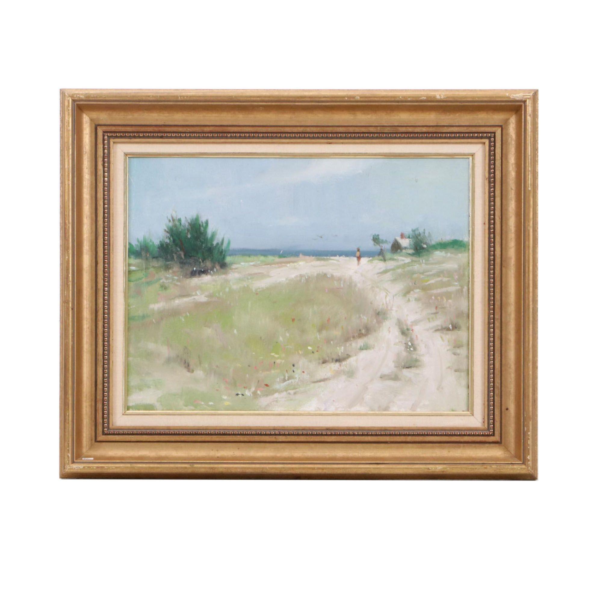 Harry Barton Oil Painting of a Coastal Landscape