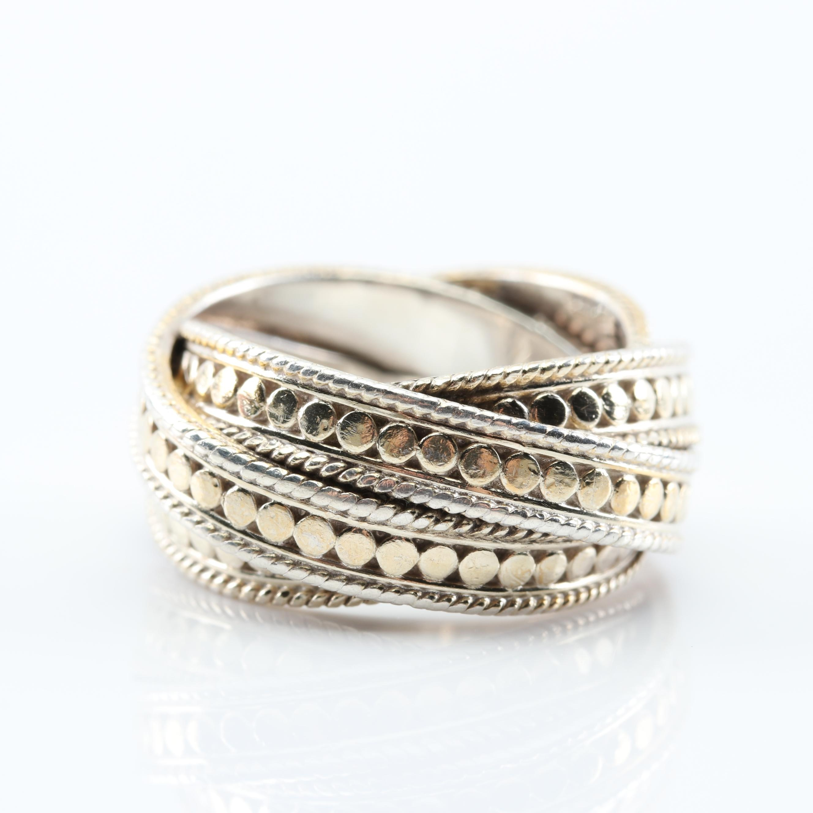 Anna Beck Sterling Silver Three-Row Wrapped Band Ring