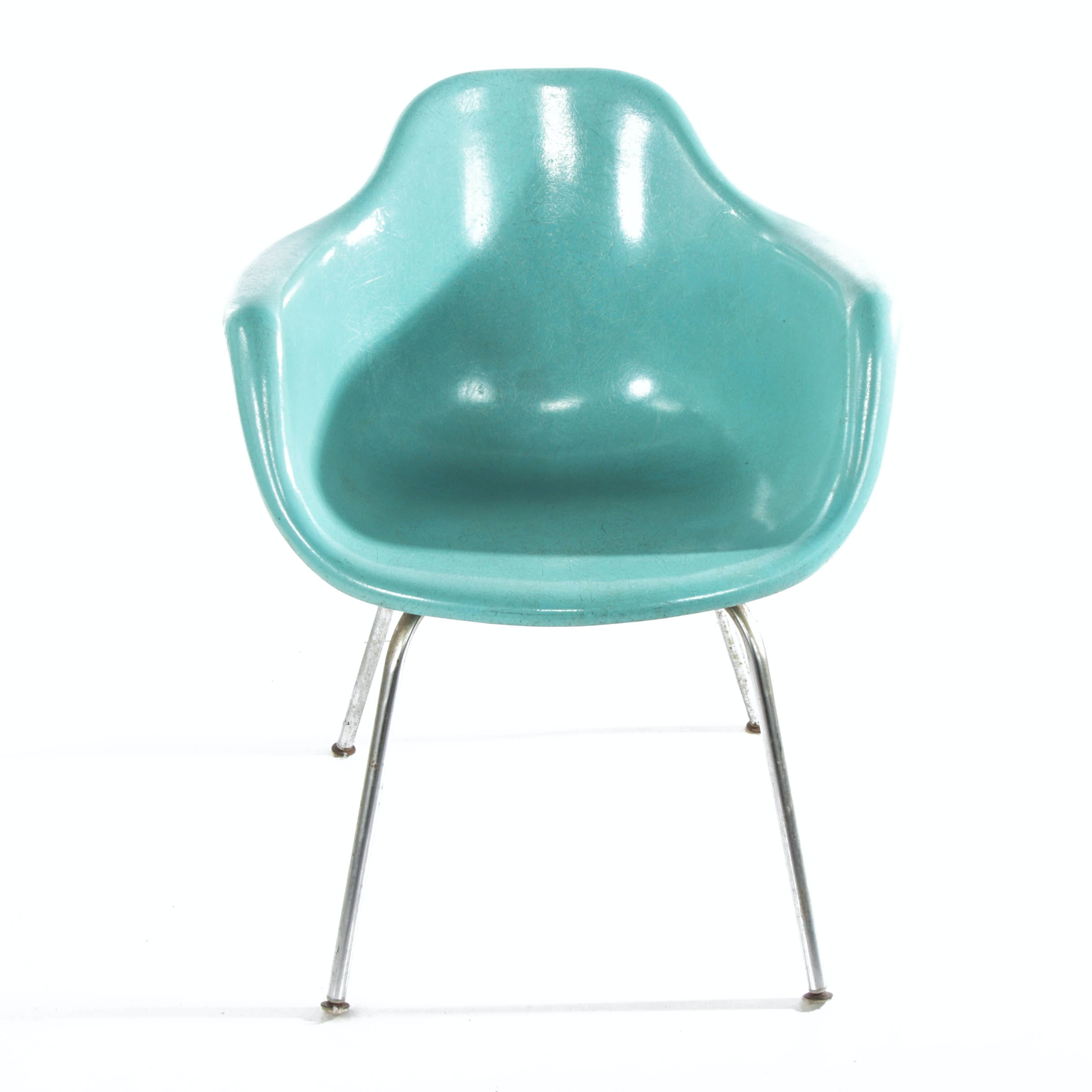 Eames Style Fiberglass Shell Chair, Mid-20th Century
