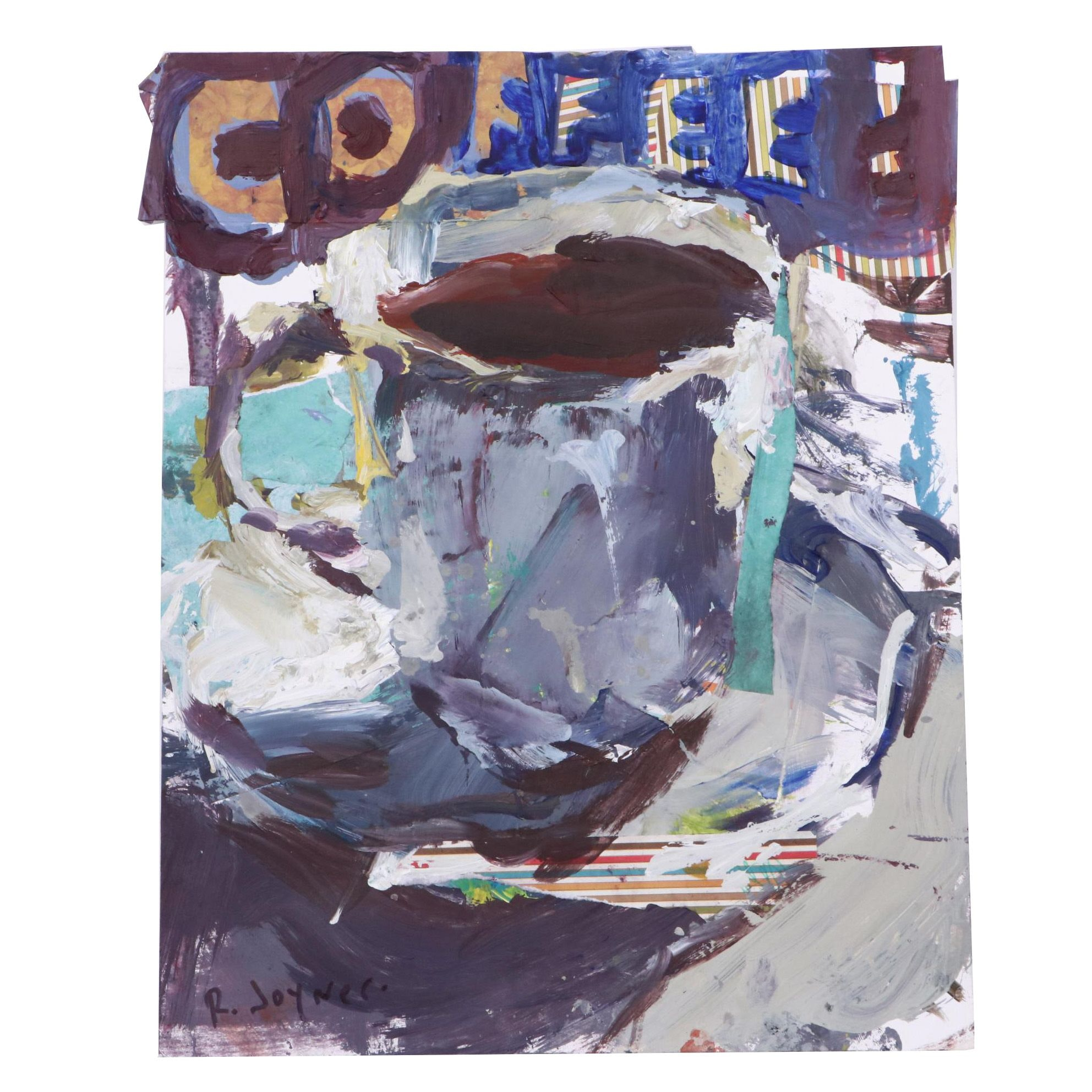 "Robert Joyner Mixed Media Painting ""Coffee"""