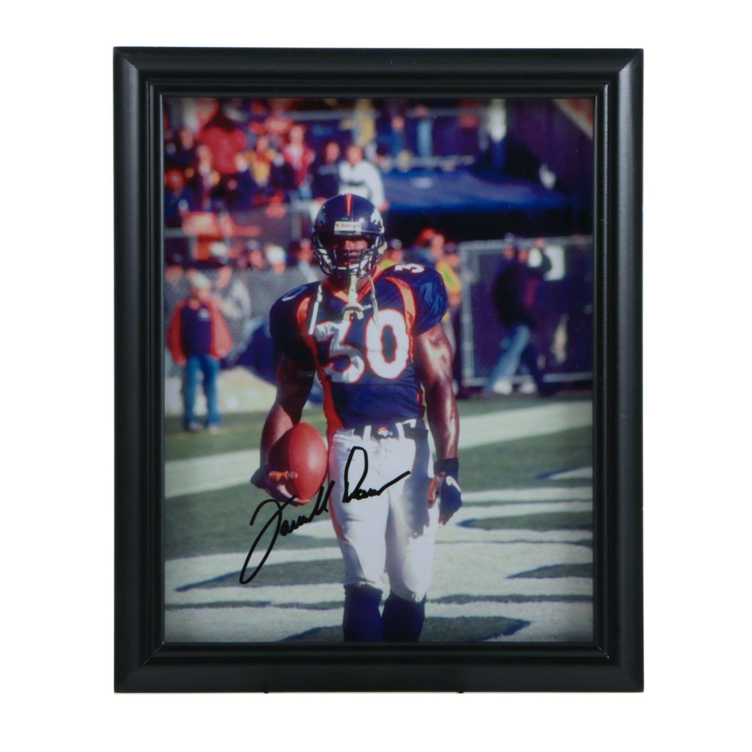 Framed Terrell Davis (HOF) Autographed Photograph