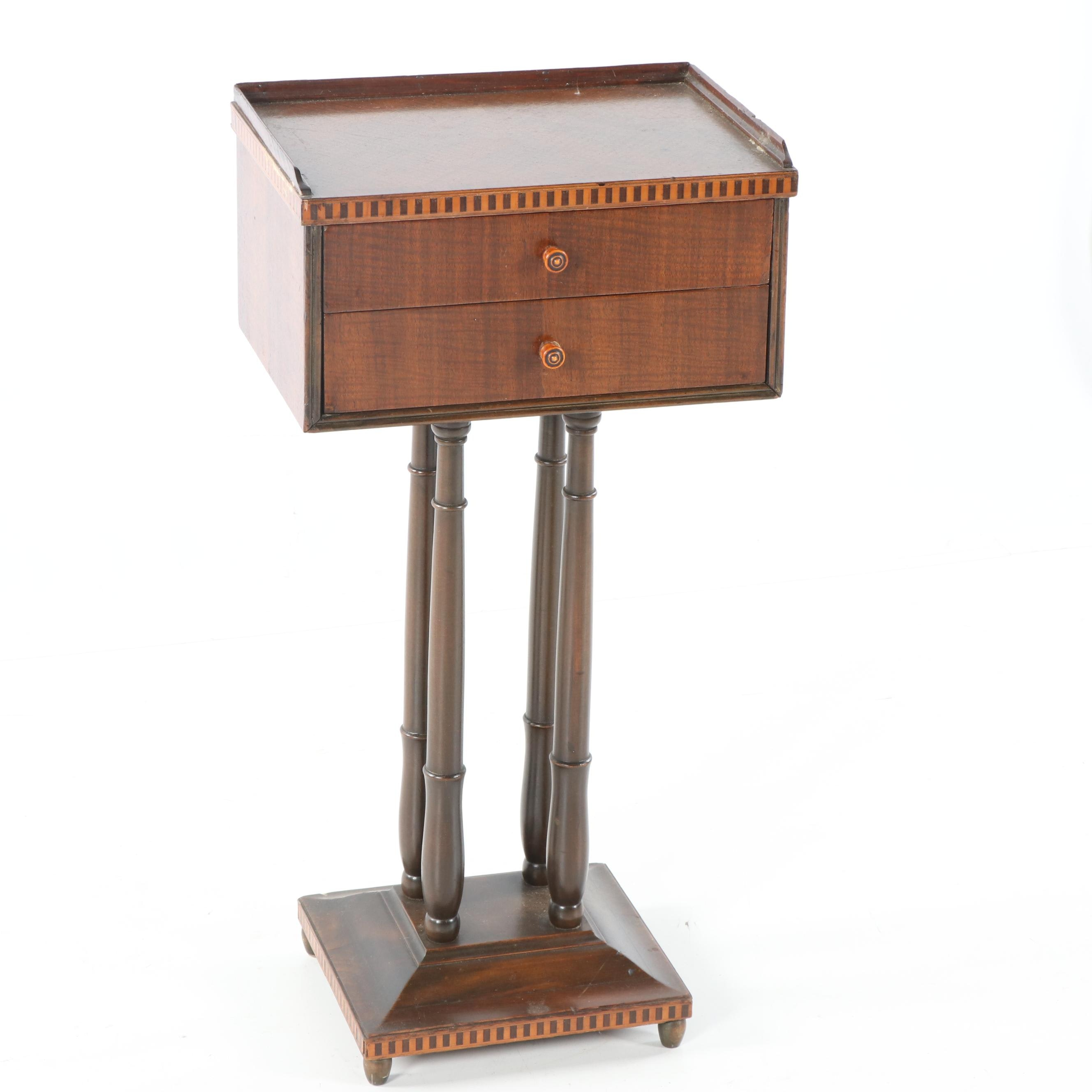 Federal Style Mahogany Side Table, 20th Century