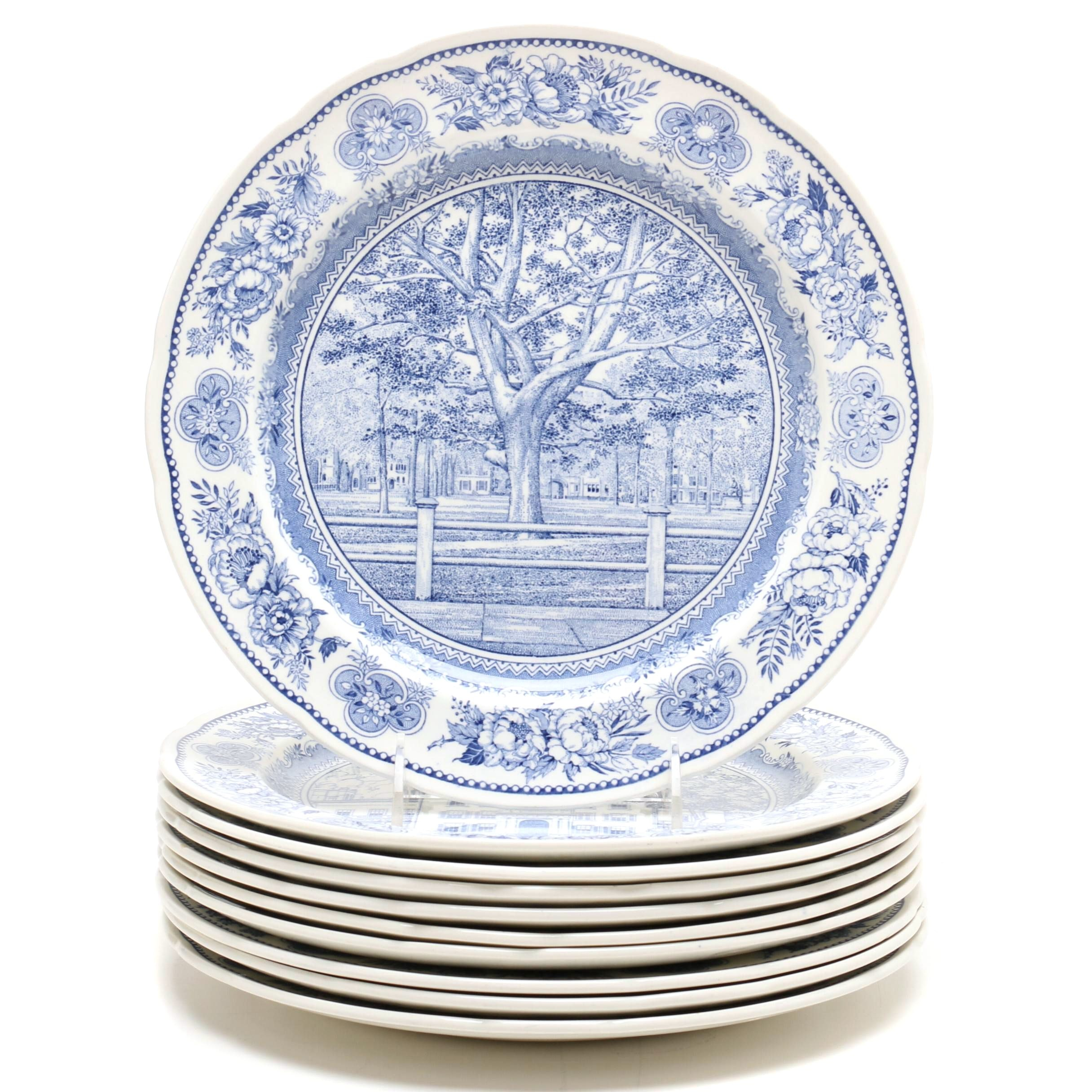 "Wedgwood ""Yale"" Earthenware Plates in Blue, 1949-50s"