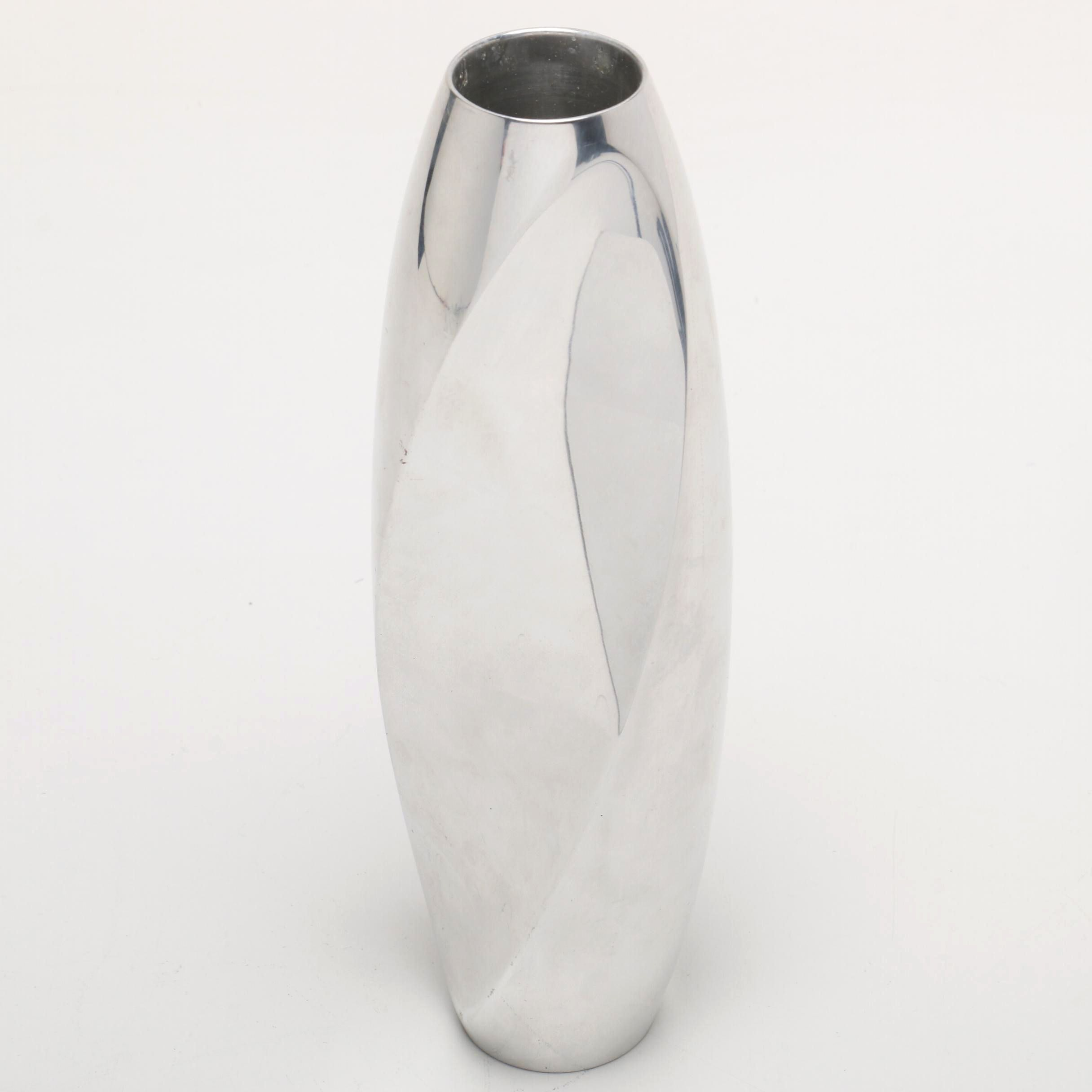 Nambé Twist Floral Vase by Designer Fred Bould, 2001