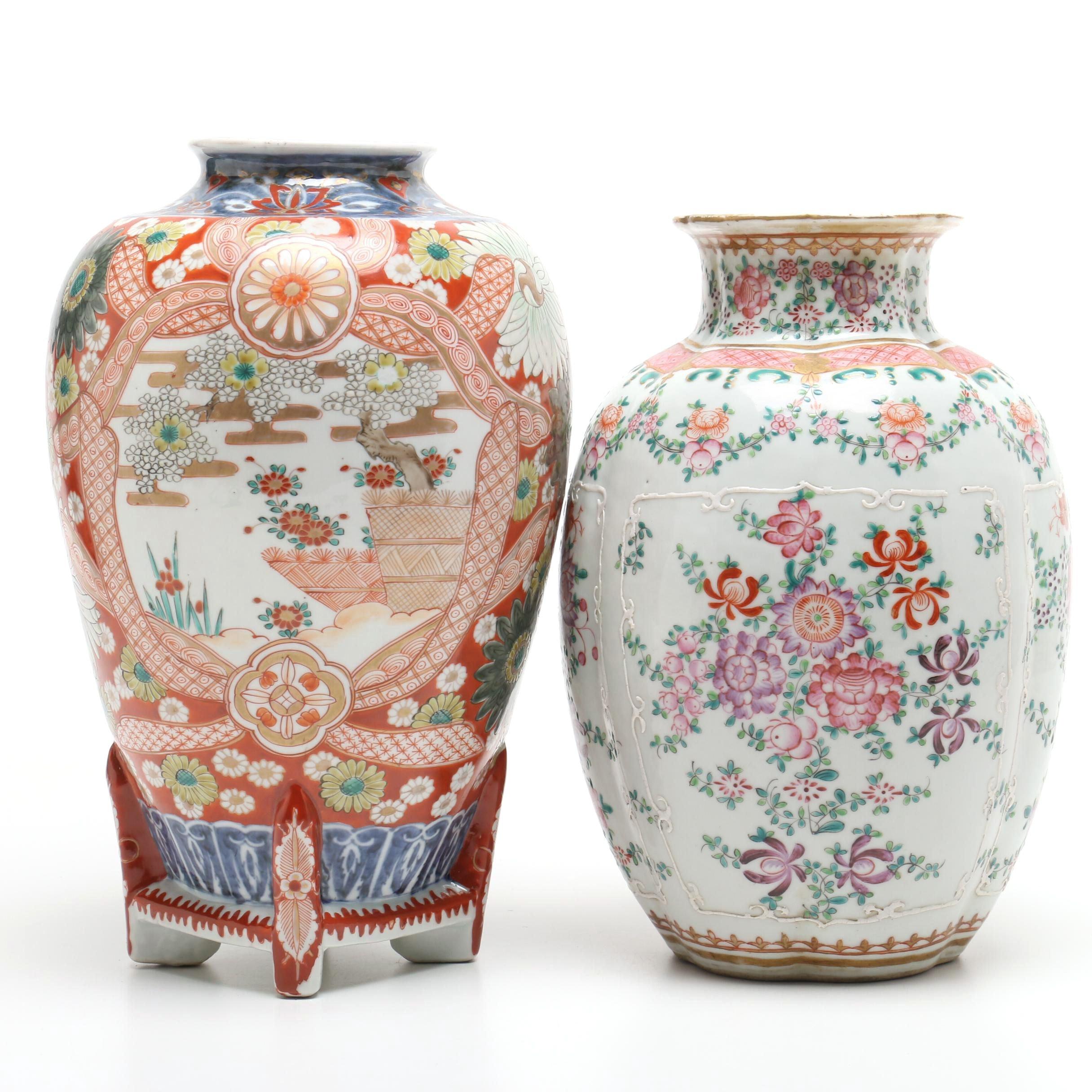 Chinese and Japanese Porelain Vases