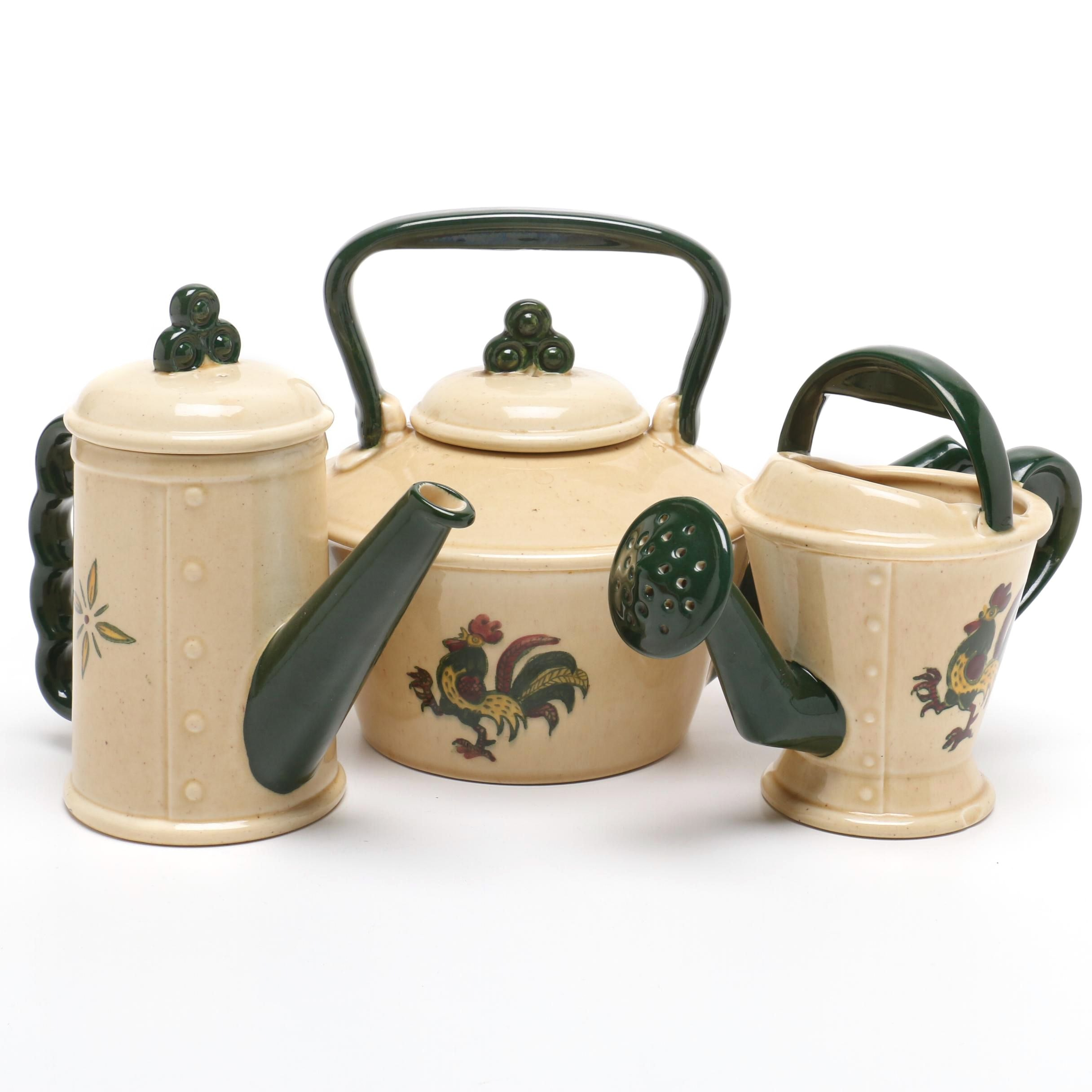 "Metlox Poppytrail ""California Provincial"" Serveware and Watering Can"