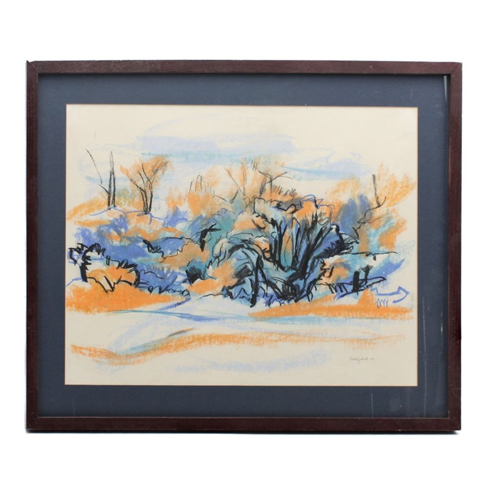 Gold Fredrick Oil Pastel Landscape Drawing