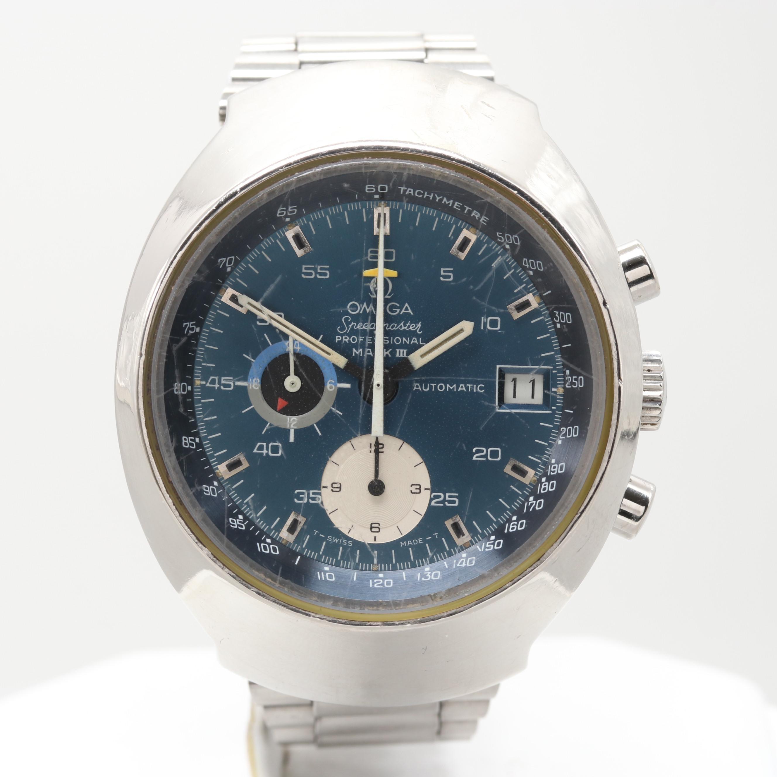 Vintage Omega Speedmaster MK III Automatic Chronograph Wristwatch