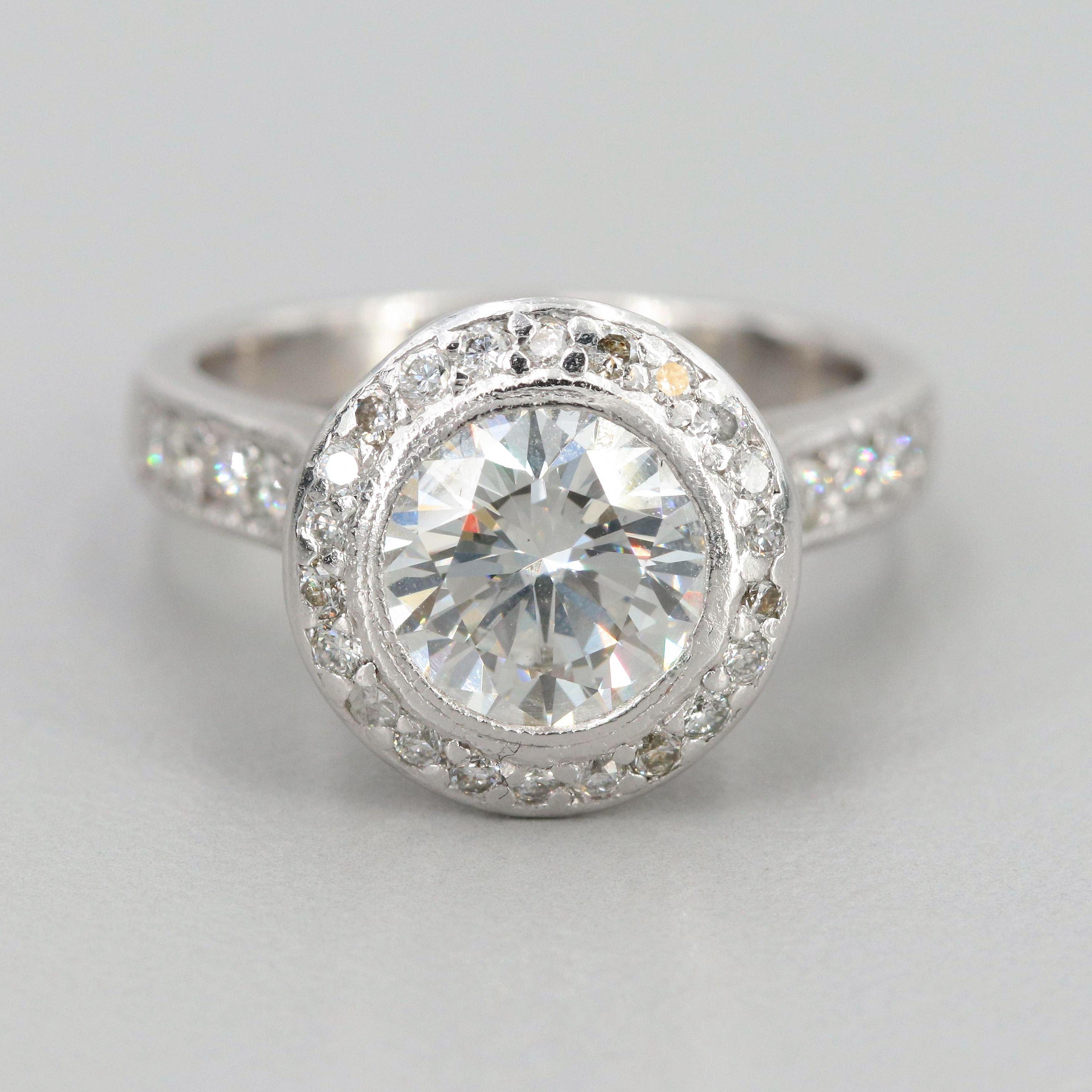 Platinum 2.39 CTW Diamond Ring