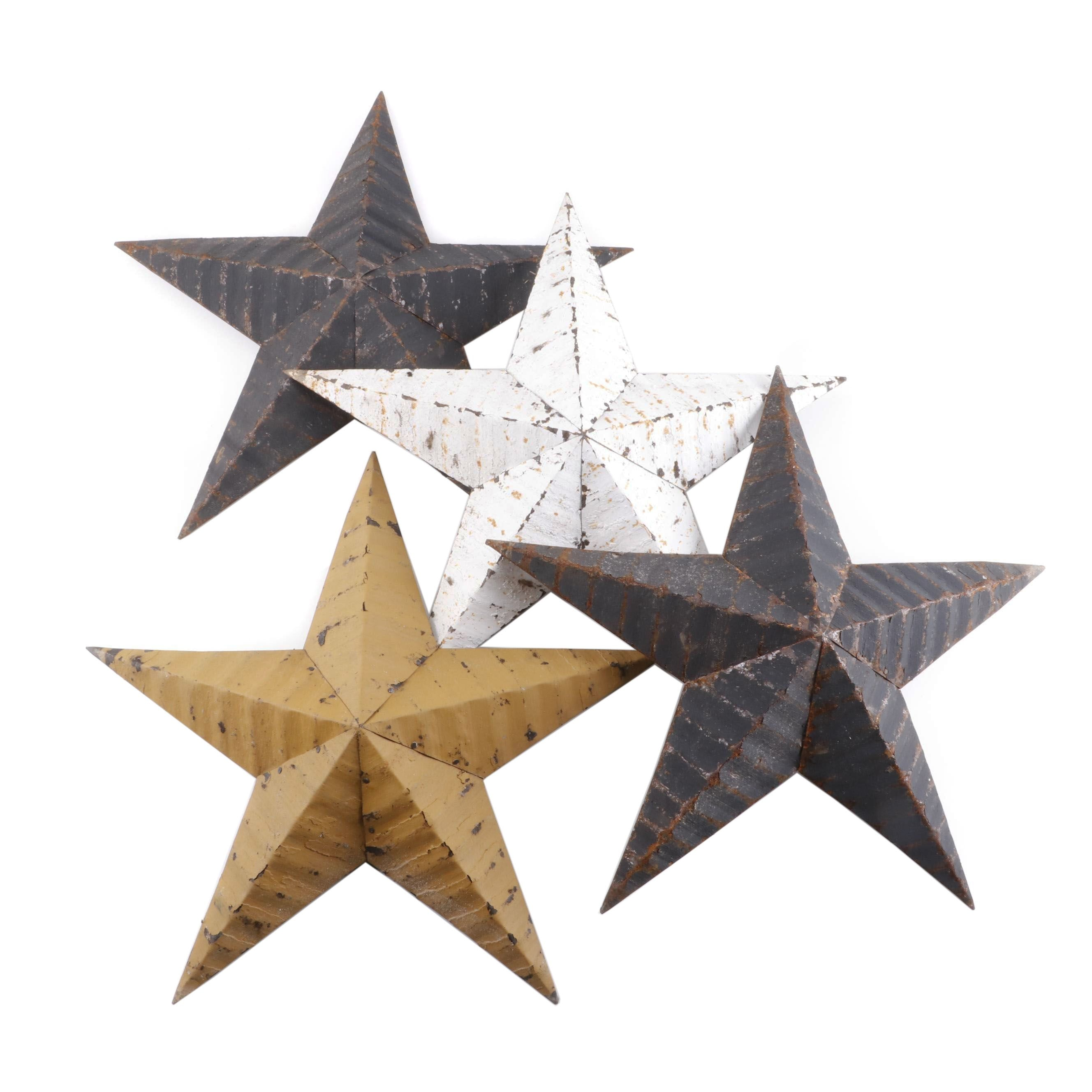 Rustic Style Painted Iron Stars