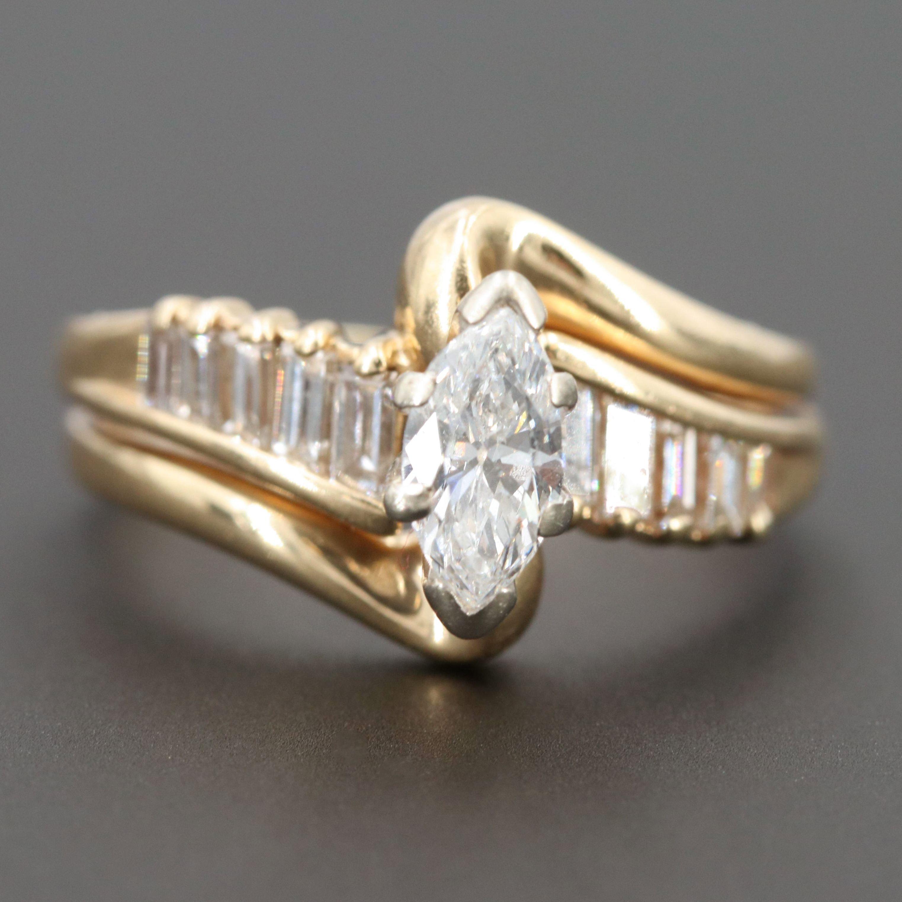14K Yellow Gold Diamond Soldered Ring