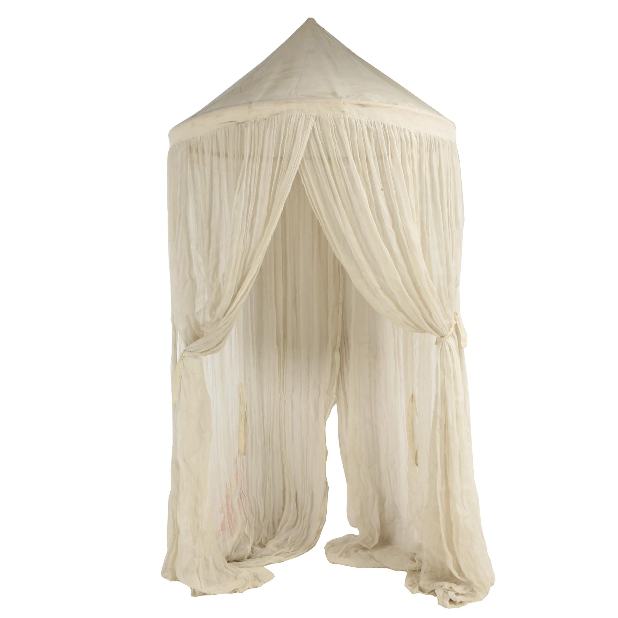 Bamboo and Cotton Gauze Bed Canopy