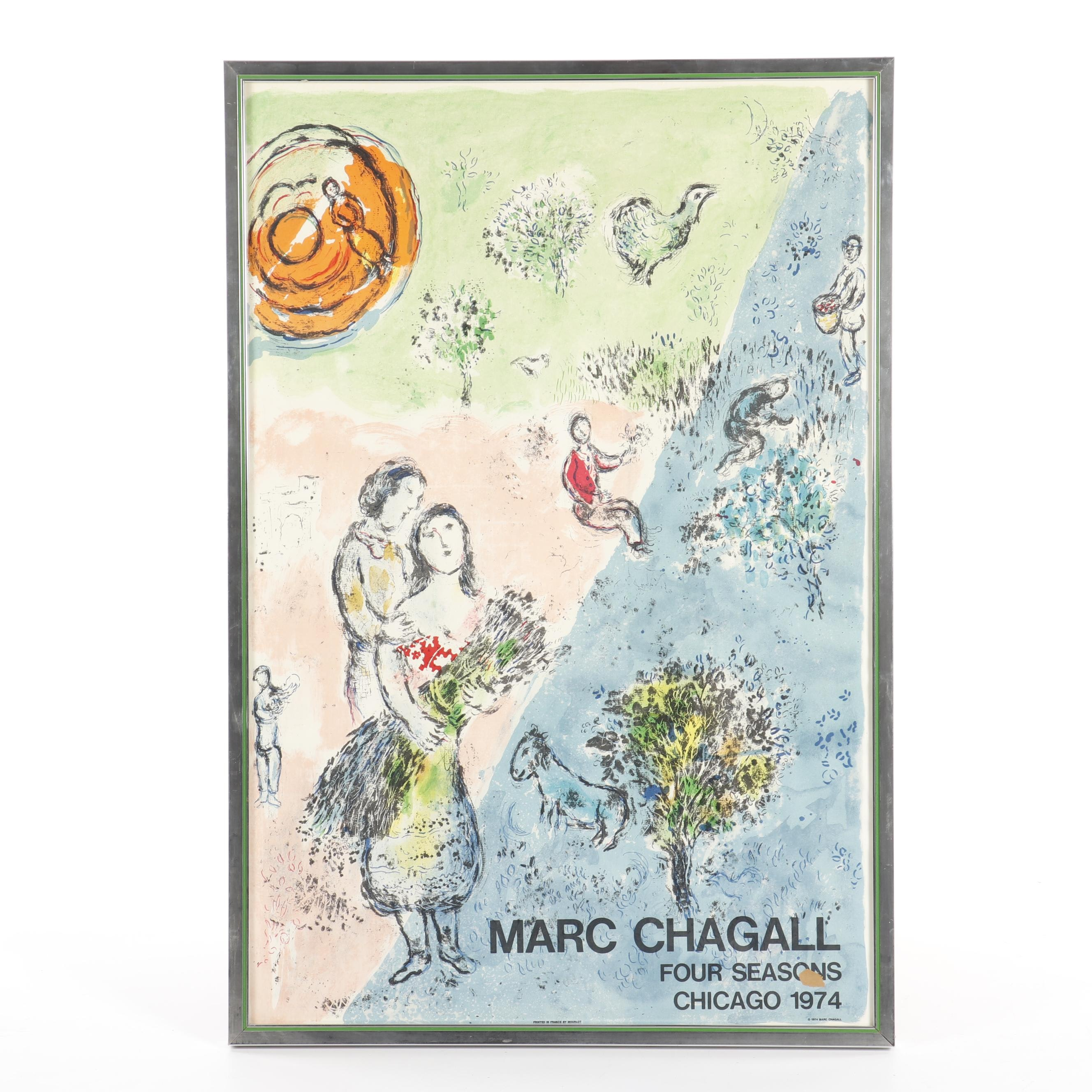 Vintage Poster After Marc Chagall