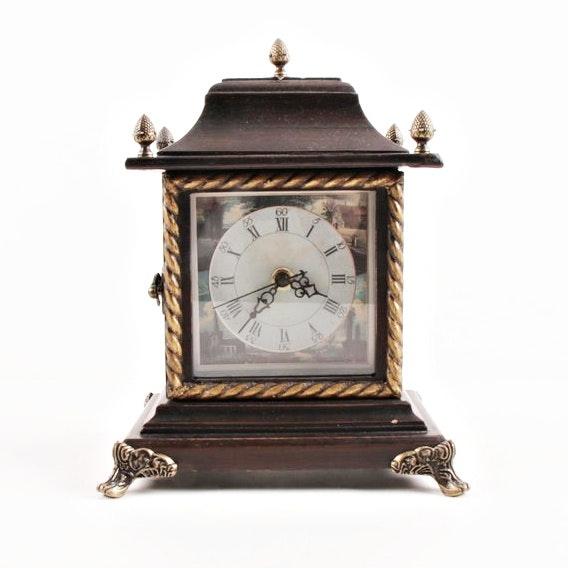 Contemporary Wood Mantel Clock